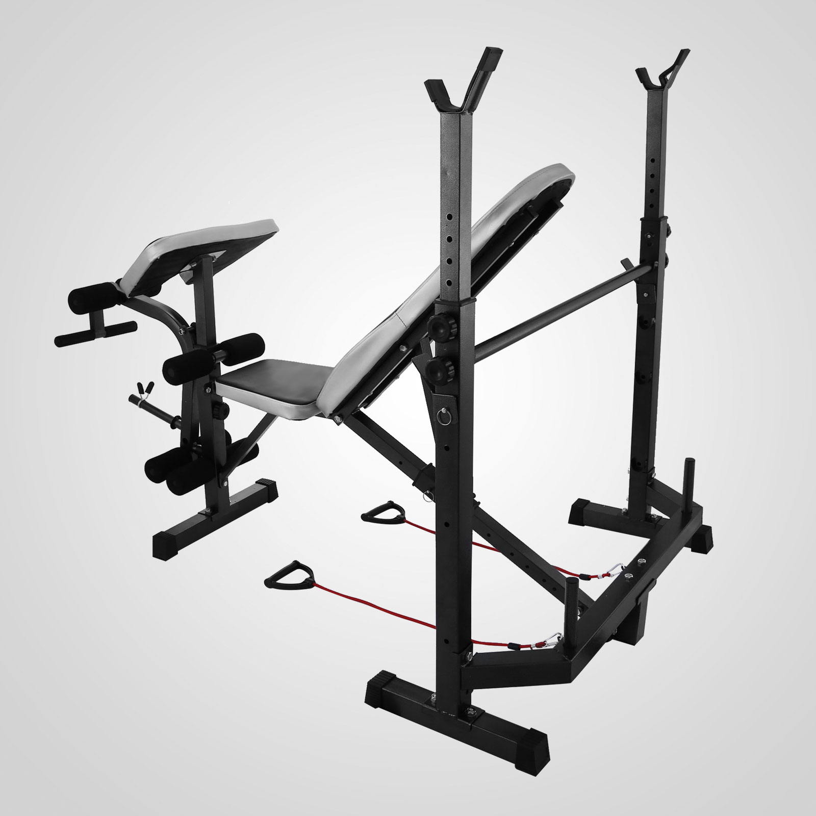 Weight Bench Set Home Gym Deluxe W 660lbs Weights Lifting