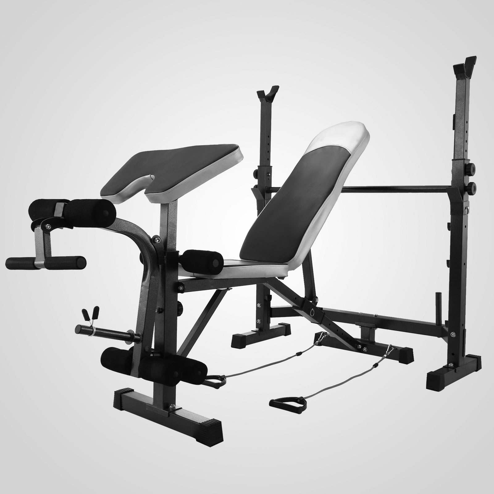 Weight Bench Set Home Gym Deluxe With 660Lbs Weights