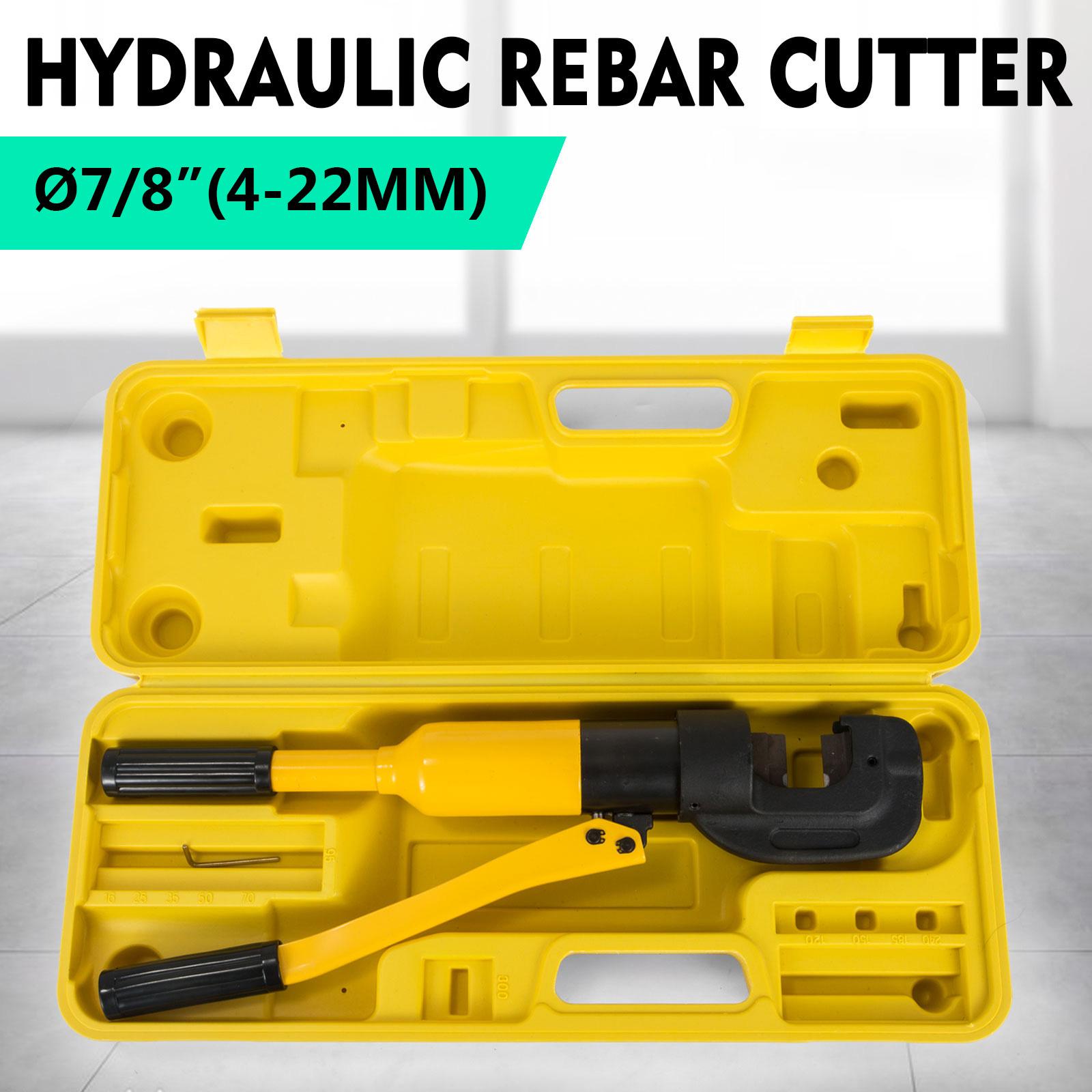 Handheld Hydraulic Rebar Cutter cuts 4 mm to 22 mm 12 ton