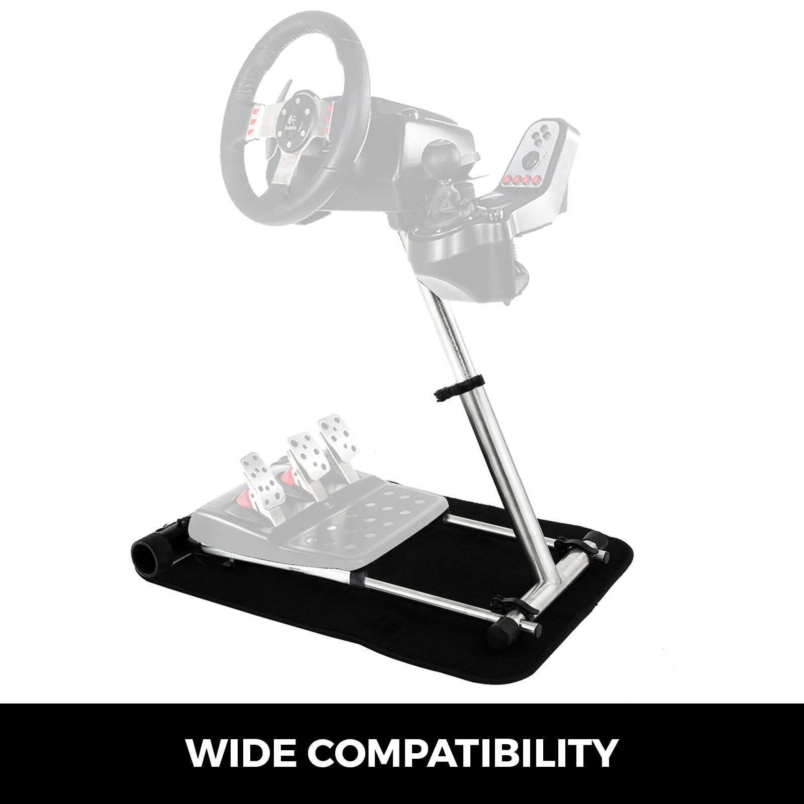 racing wheel stand,stainless steel,fully adjustable