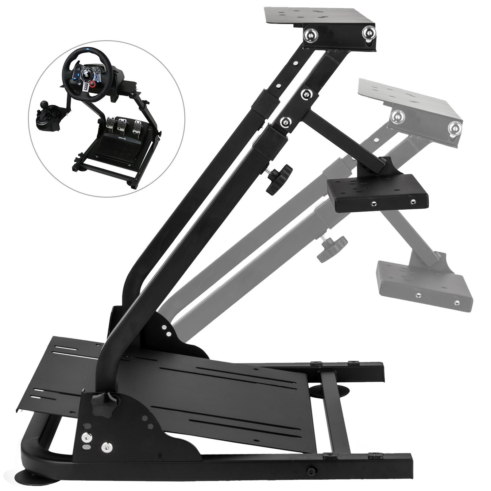 e3ec362f7bb Details about Racing Steering Wheel stand For Logitech G29 Racing Wheel PS4  and PC PRO V2