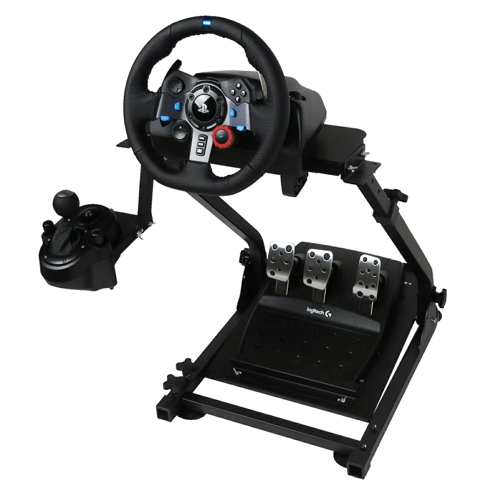 racing racing simulator steering wheel stand for g27 g29. Black Bedroom Furniture Sets. Home Design Ideas