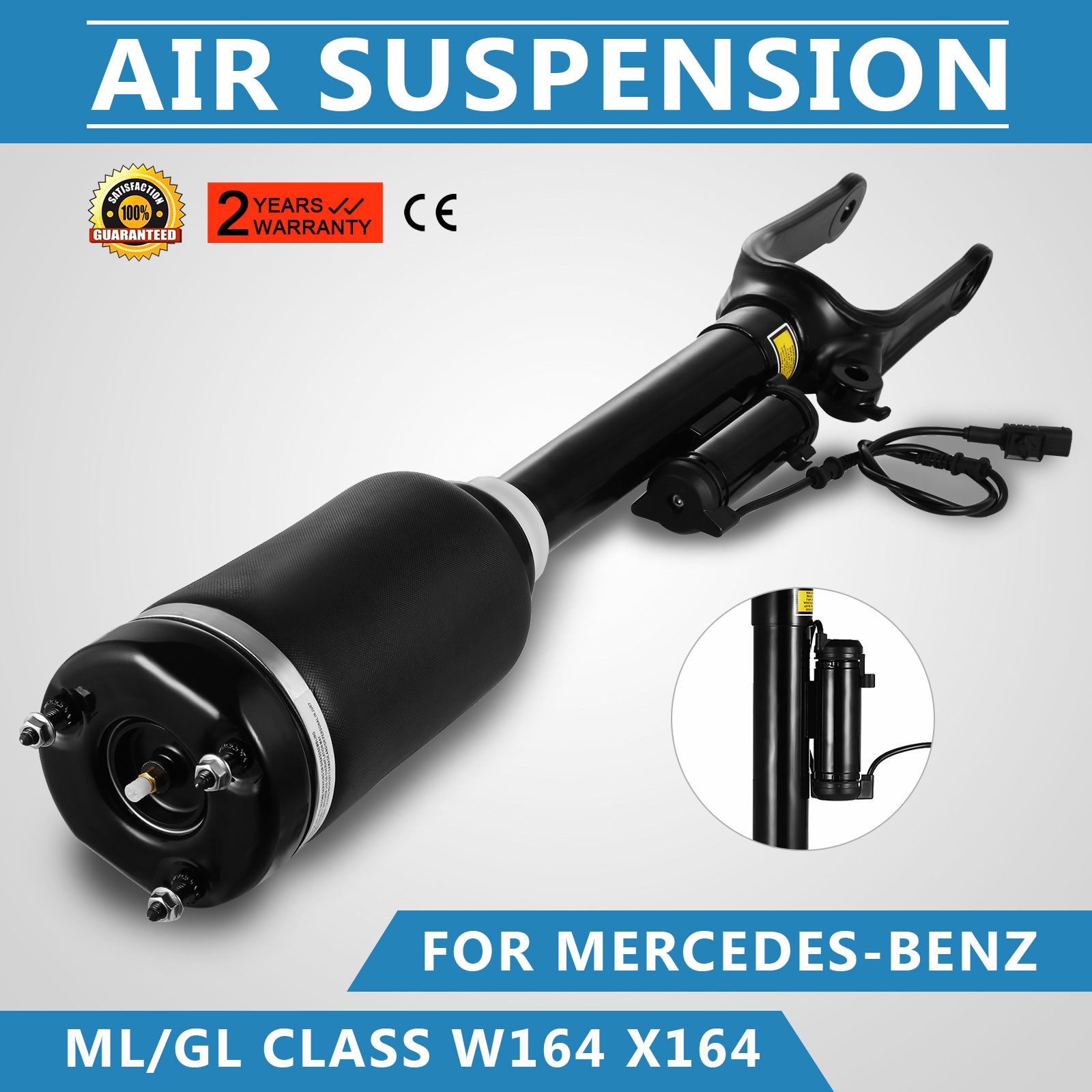 Front Air Suspension Strut Absorber Shock For Mercedes W164 GL320 ML350 with ADS