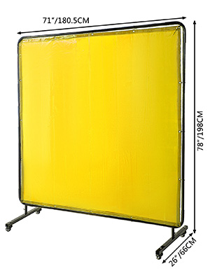 Canvas 4/'x6 /'// 6/'x6 /'// 8/'x6/' Fire Retardant Welding Curtain ** RINGS ** PVC