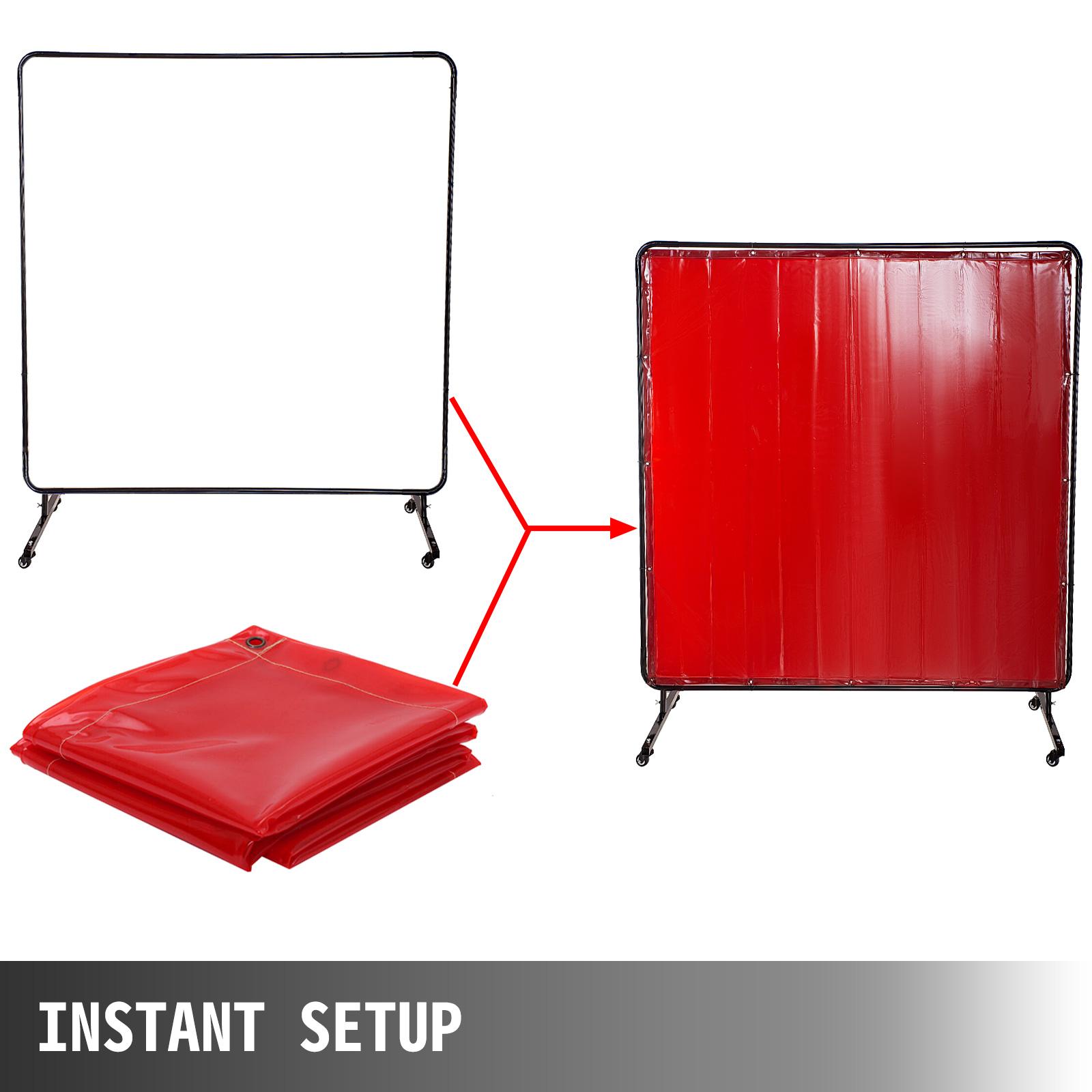 Welding Curtain ** RINGS ** PVC Fire Retardant Canvas 4/'x6 /'// 6/'x6 /'// 8/'x6/'