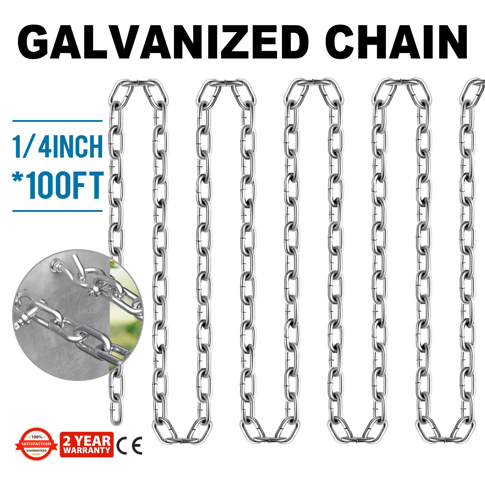 1//4 grade 30 Proof Coil Chain Zinc Plate 50ft box