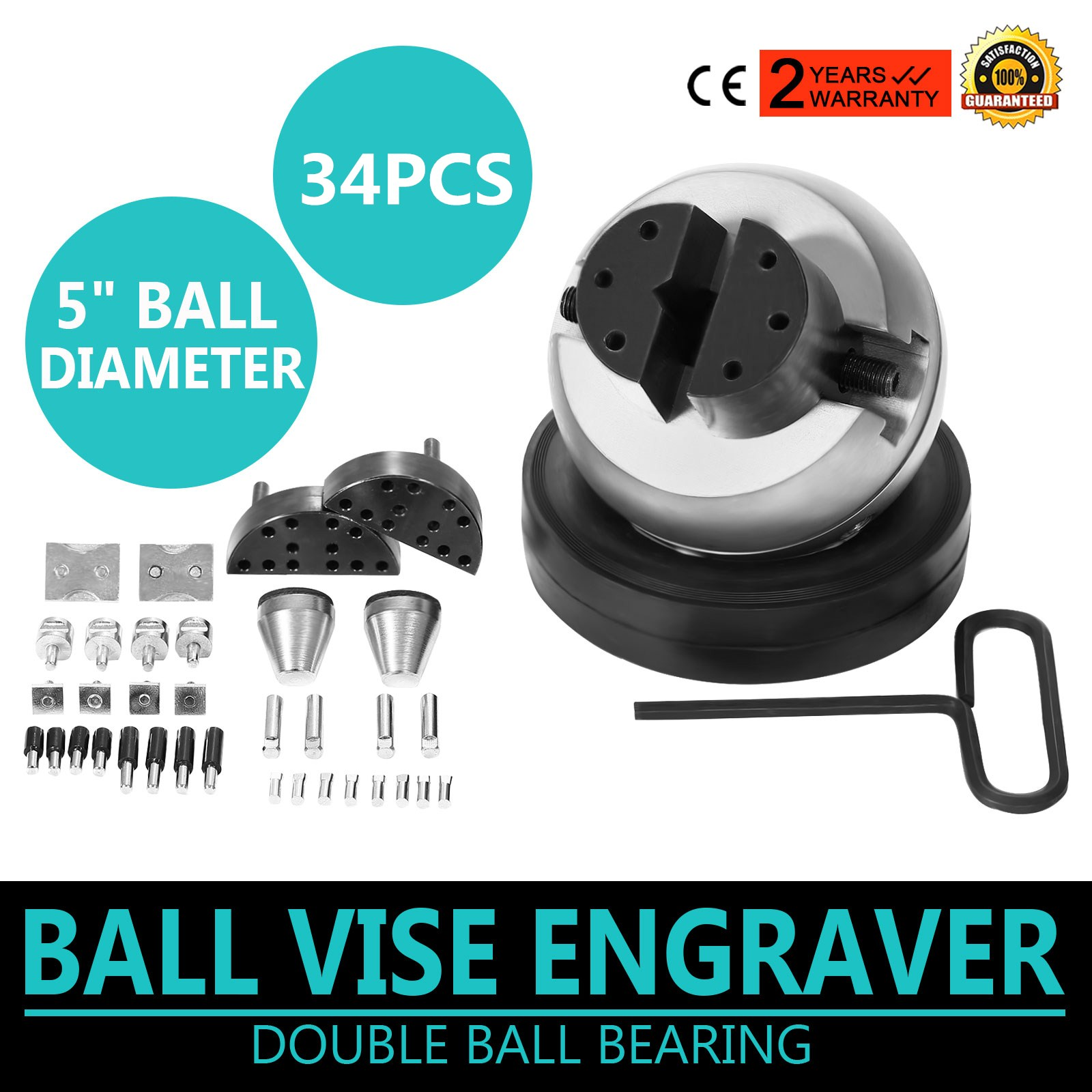 GRS Tools Standard Ball Vise Engraver Engraving Tool with 34Pieces Attachment