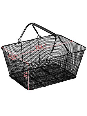 12Pcs Black Shopping Baskets 20kg//44LBS Durable Supermarket Rubber   Handles