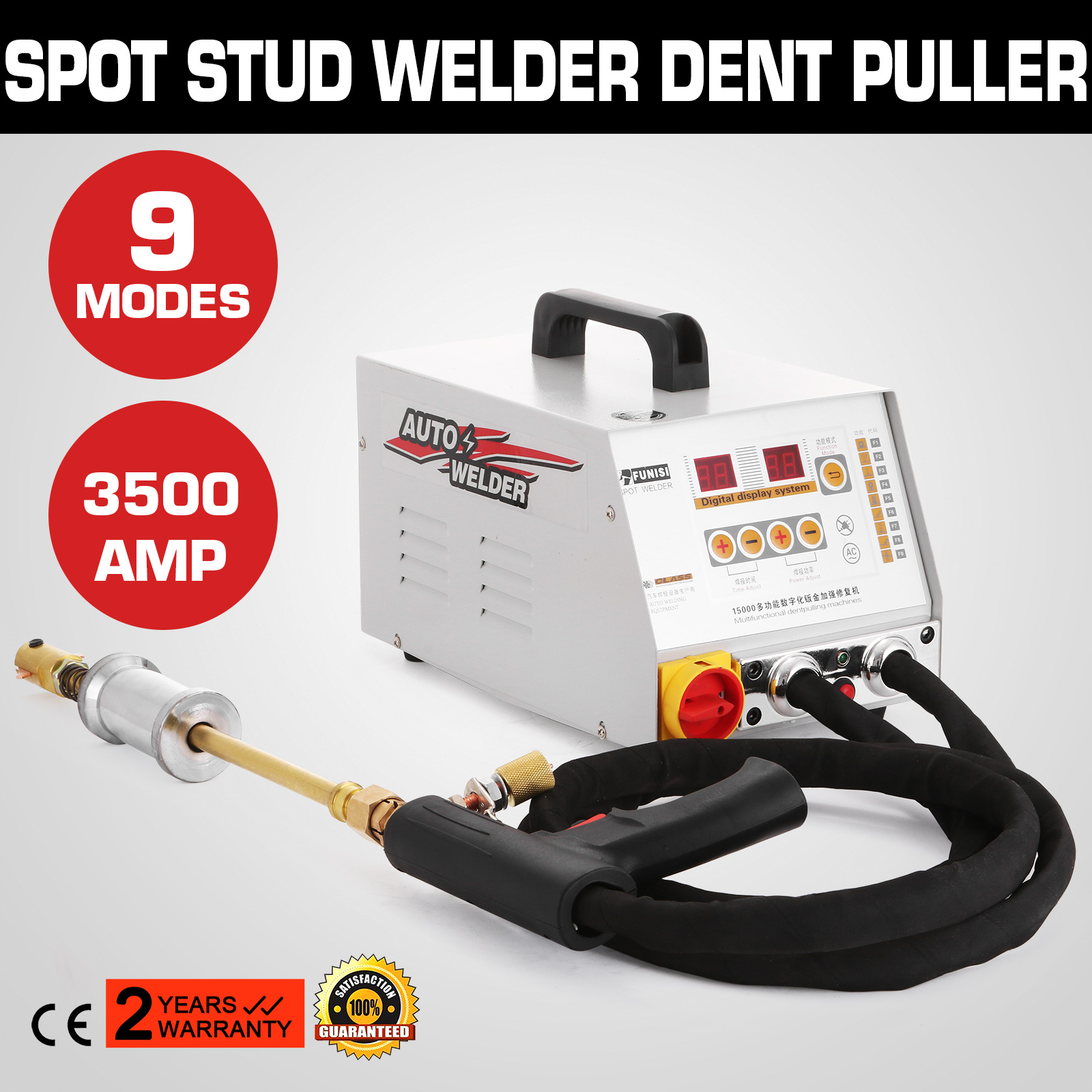 110V 3500 AMP Vehicle Panel Spot Puller Dent Spotter Durable Welder 9 Modes