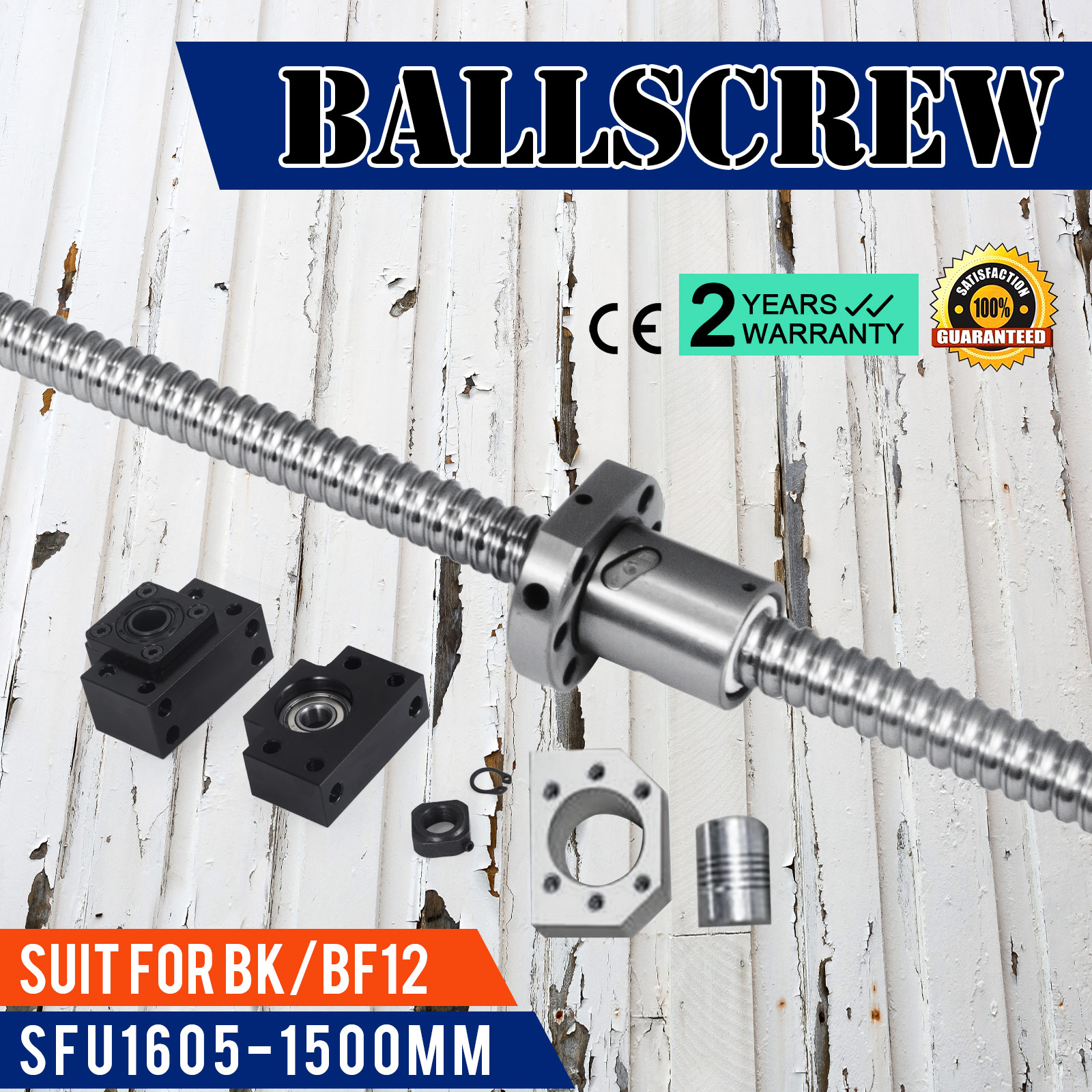SFU1605-350-1500mm-Rolled-Ball-Screw-With-Ballnut-For-BK-BF12-End-Machined-CNC thumbnail 85