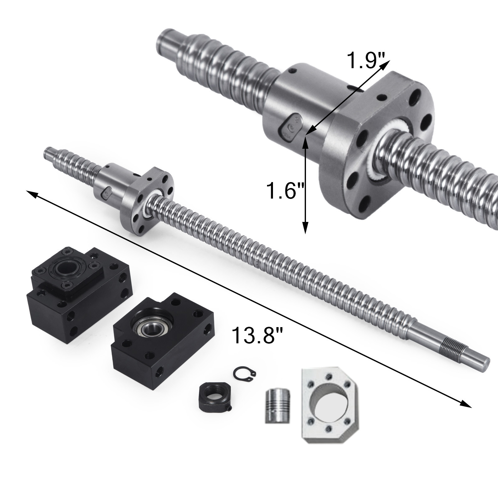 SFU1605-350-1500mm-Rolled-Ball-Screw-With-Ballnut-For-BK-BF12-End-Machined-CNC thumbnail 14