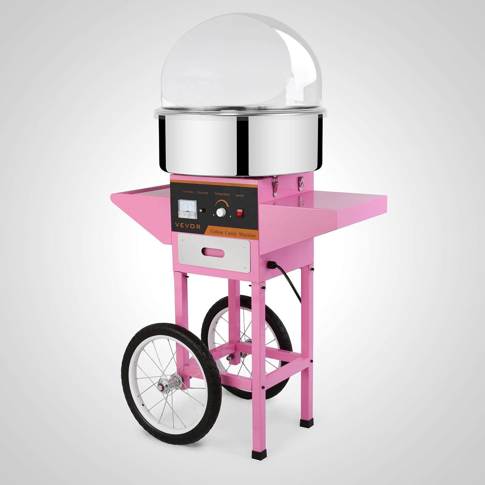 Zuckerwattemaschine-Automat-Zuckerwattegeraet-Candymaker-mit-Wagen-52cm-Abdeckung Indexbild 63