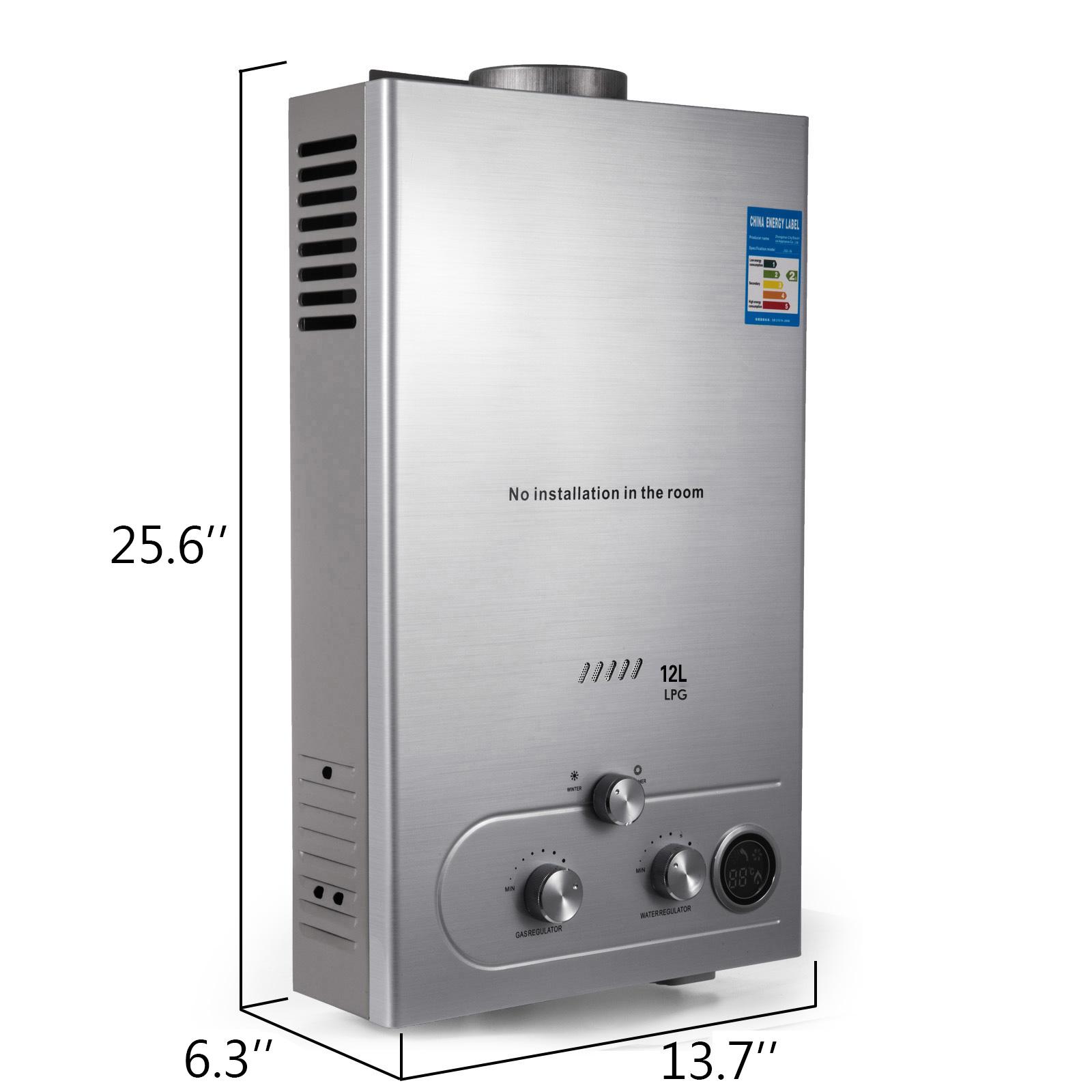 Propangas-Gas-Durchlauferhitzer-Warmwasserbereiter-Boiler-Warmwasserspeicher Indexbild 62