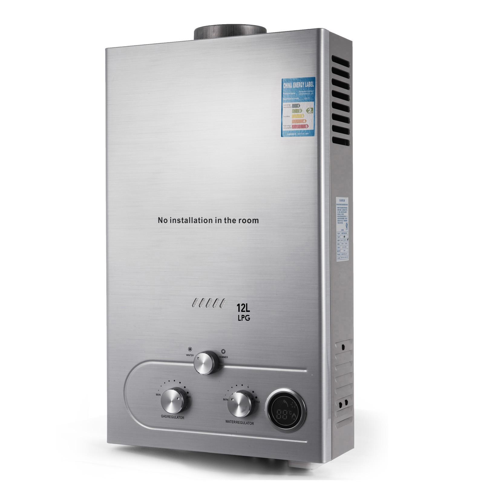Propangas-Gas-Durchlauferhitzer-Warmwasserbereiter-Boiler-Warmwasserspeicher Indexbild 63