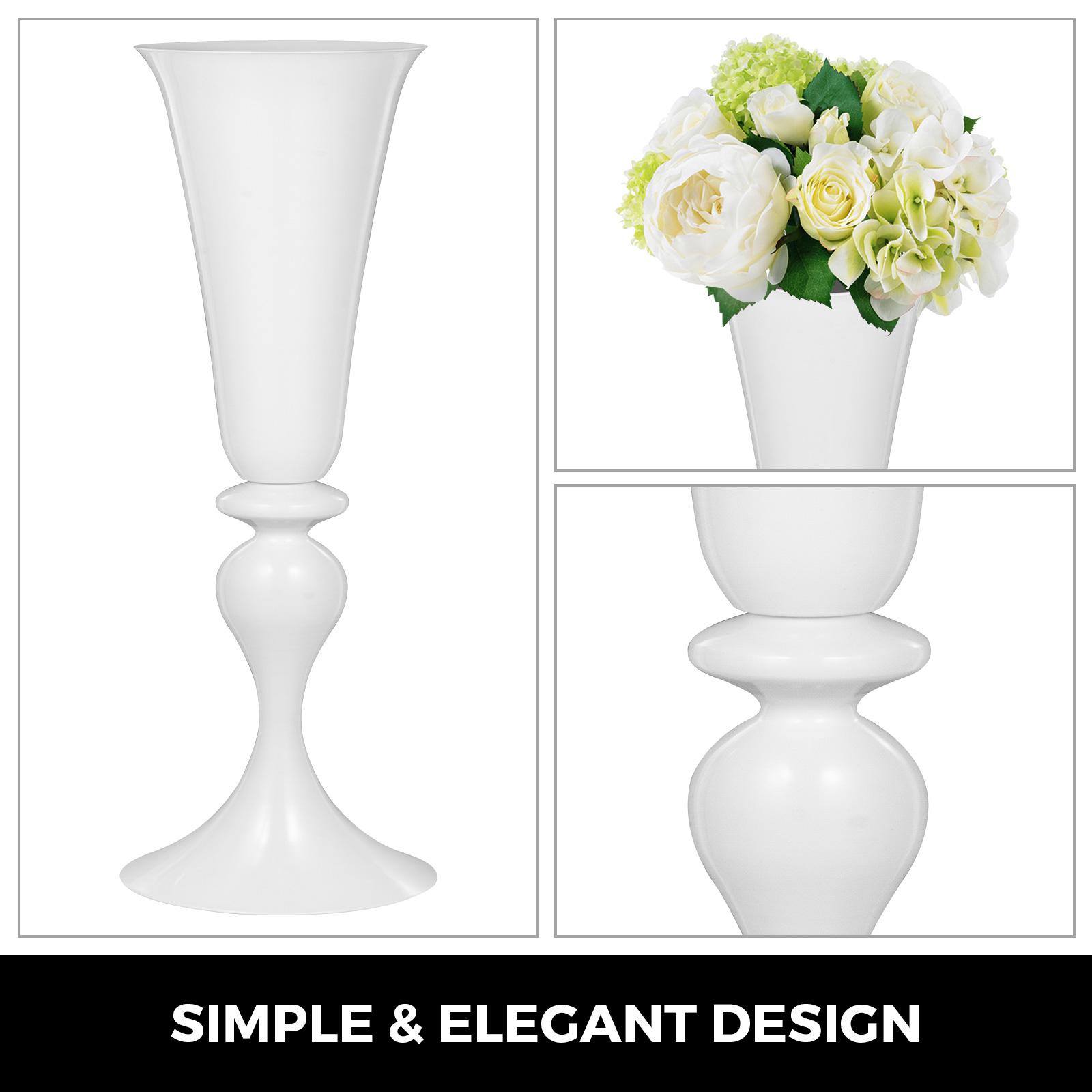 Trumpet-Vase-Flower-Vases-Centerpiece-29-5-034-22-034-for-Party-Celebration-Events thumbnail 76