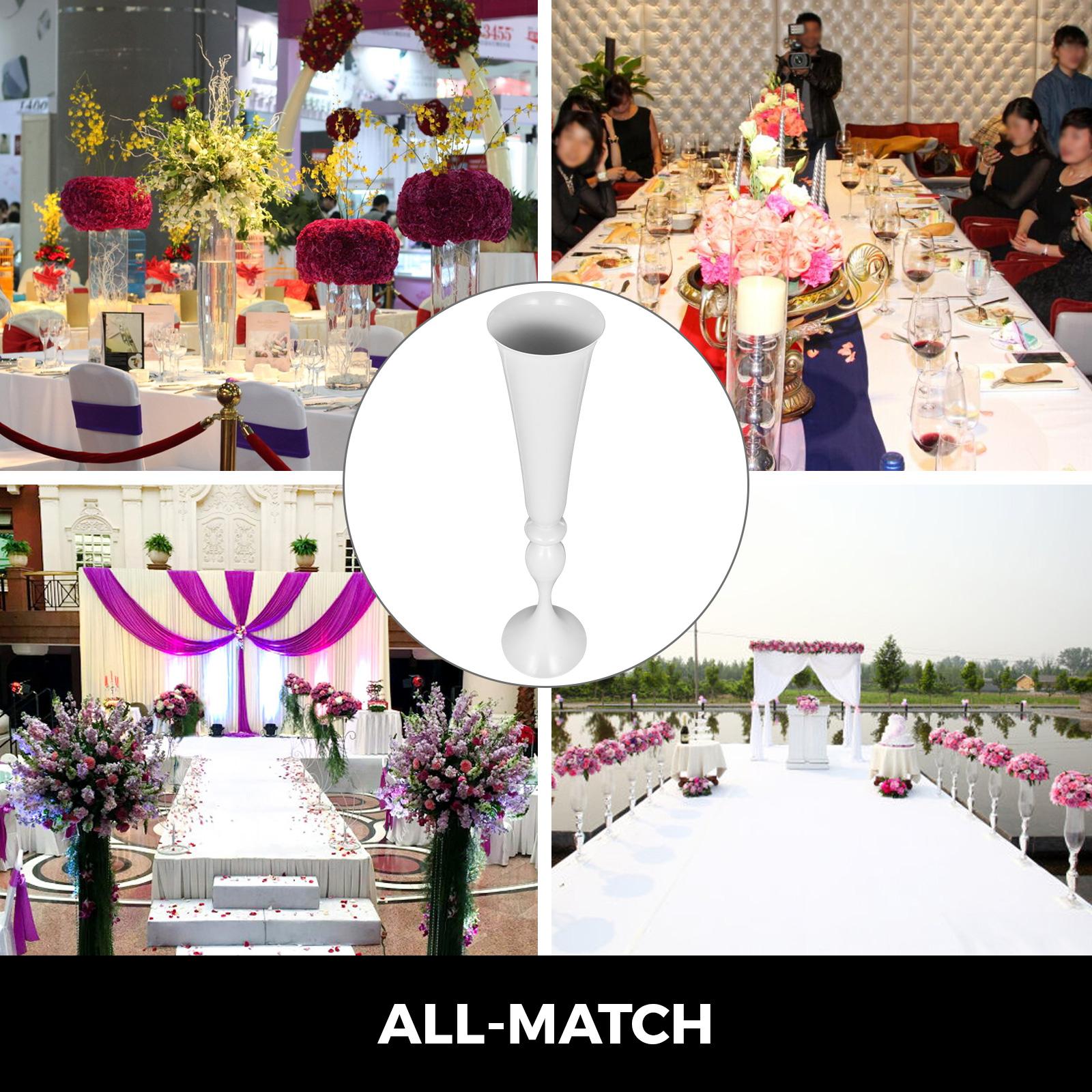 Trumpet-Vase-Flower-Vases-Centerpiece-29-5-034-22-034-for-Party-Celebration-Events thumbnail 79
