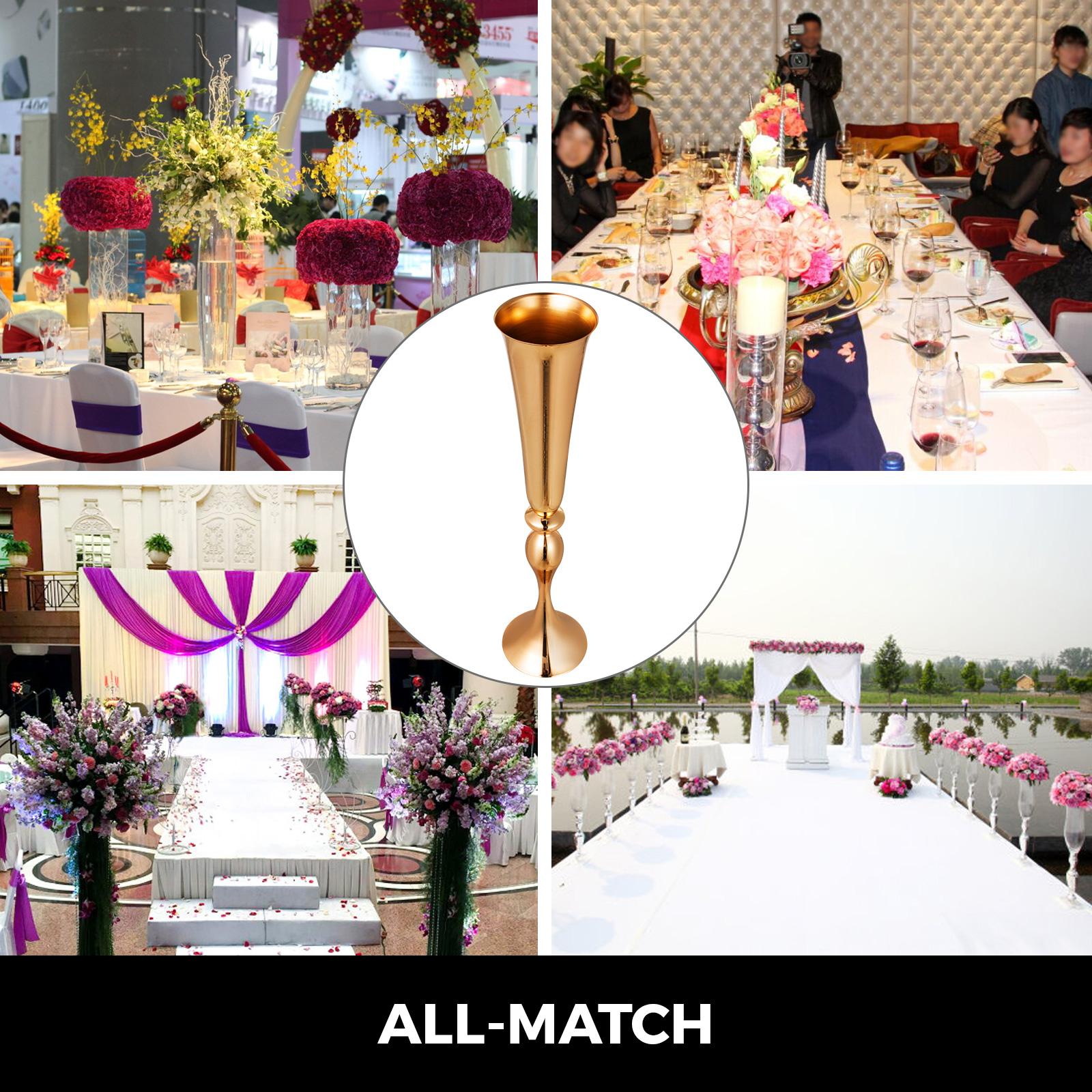 Trumpet-Vase-Flower-Vases-Centerpiece-29-5-034-22-034-for-Party-Celebration-Events thumbnail 55