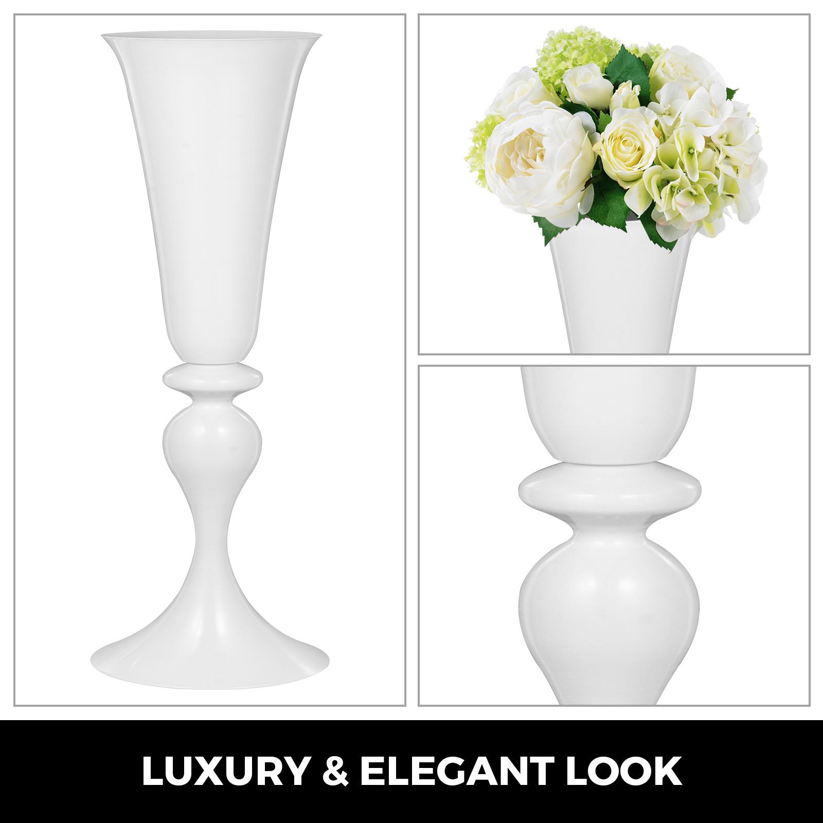 Trumpet-Vase-Flower-Vases-Centerpiece-29-5-034-22-034-for-Party-Celebration-Events thumbnail 39