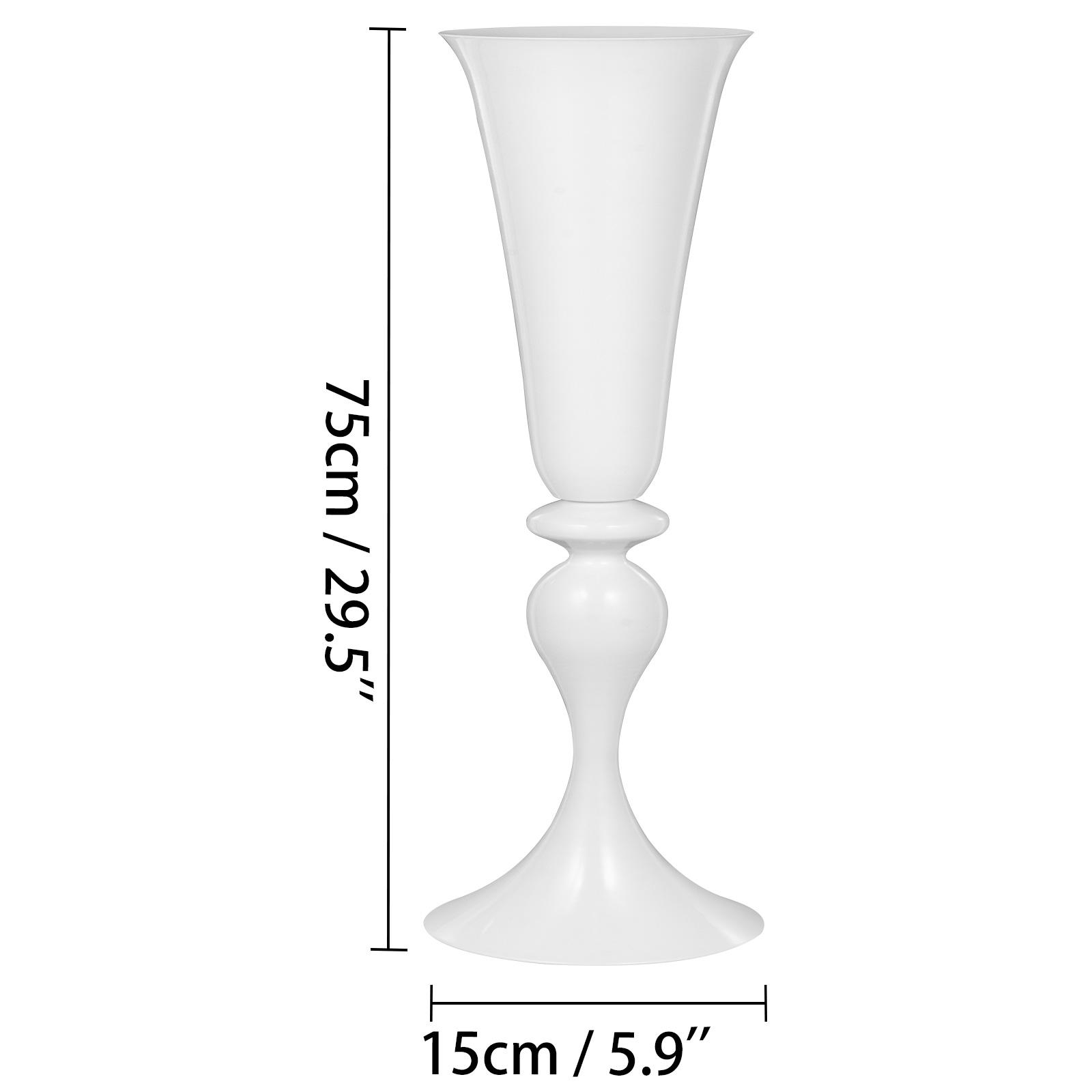 Trumpet-Vase-Flower-Vases-Centerpiece-29-5-034-22-034-for-Party-Celebration-Events thumbnail 44