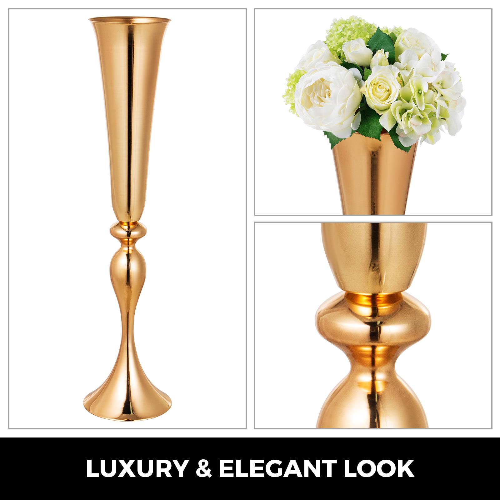 Trumpet-Vase-Flower-Vases-Centerpiece-29-5-034-22-034-for-Party-Celebration-Events thumbnail 15