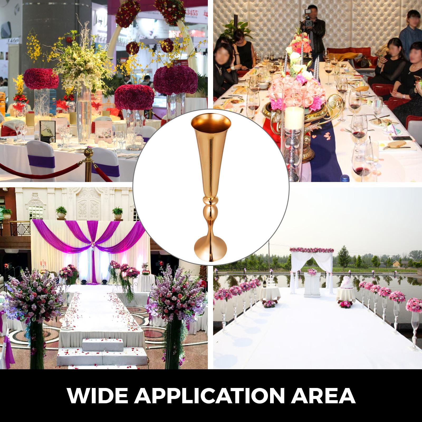 Trumpet-Vase-Flower-Vases-Centerpiece-29-5-034-22-034-for-Party-Celebration-Events thumbnail 19