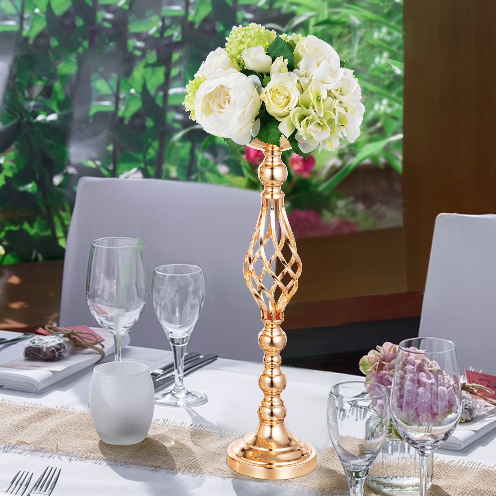 Flower-Rack-for-Wedding-Metal-Candle-Stand-4-11pcs-Centerpiece-Flower-Vase thumbnail 57