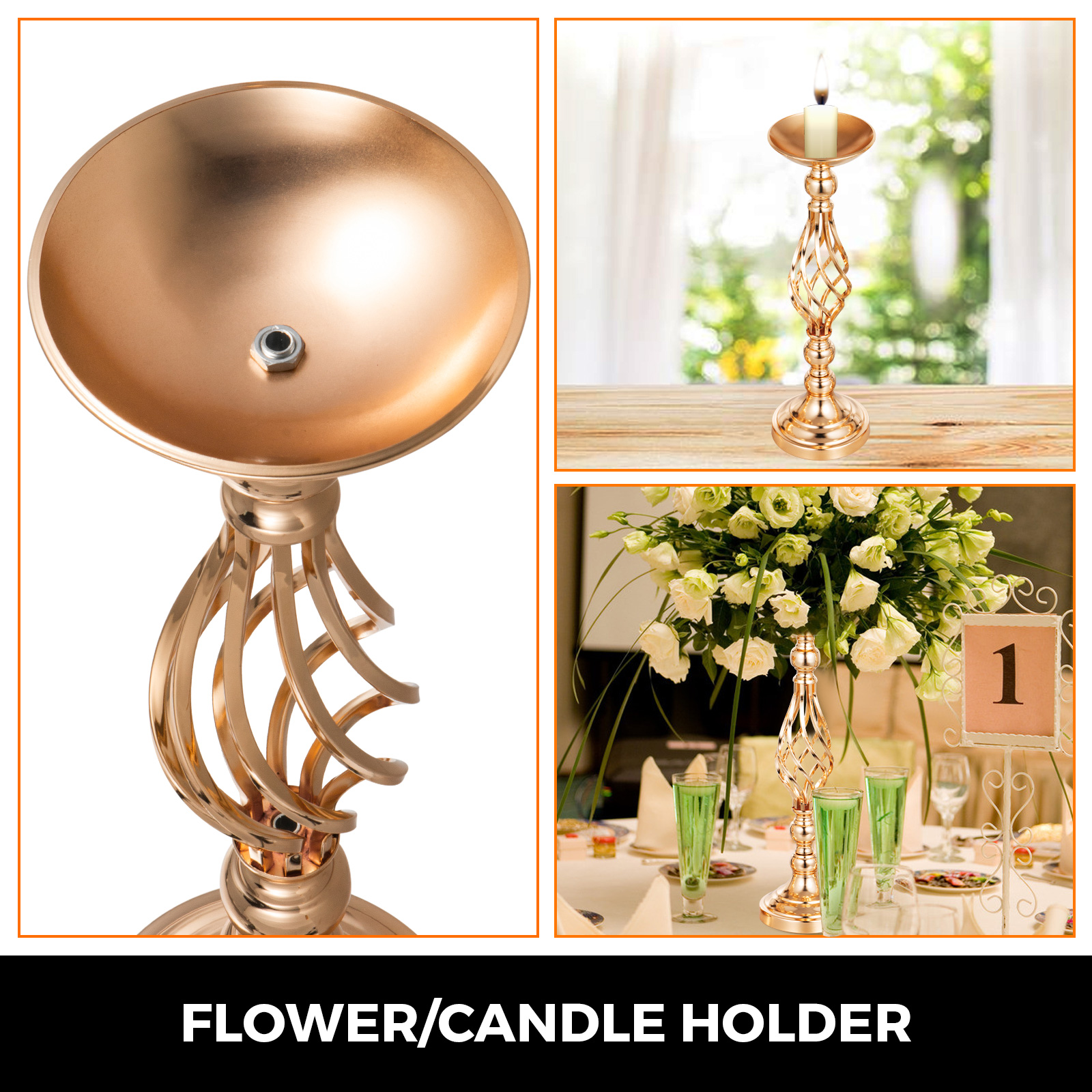 Flower-Rack-for-Wedding-Metal-Candle-Stand-4-11pcs-Centerpiece-Flower-Vase thumbnail 63