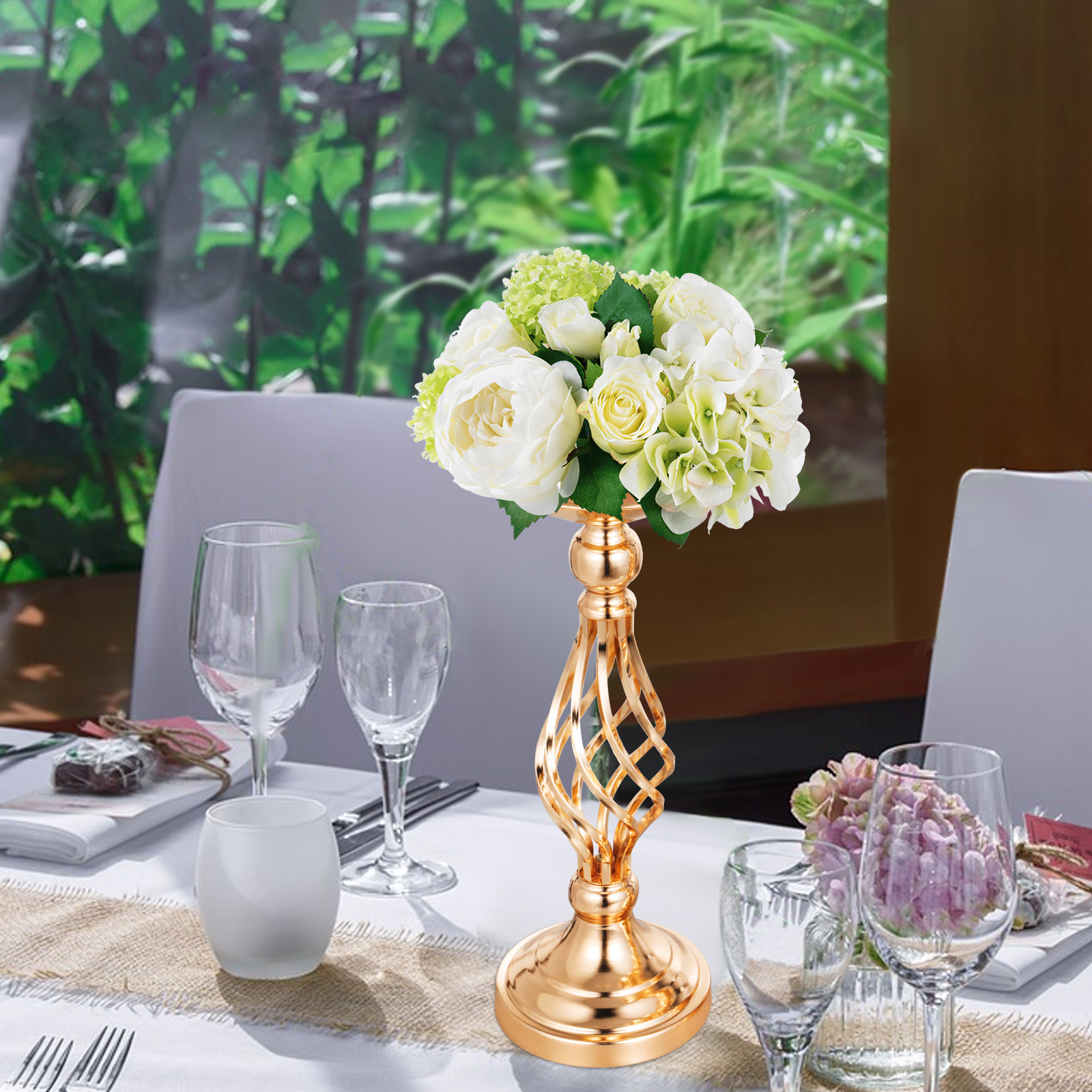 Flower-Rack-for-Wedding-Metal-Candle-Stand-4-11pcs-Centerpiece-Flower-Vase thumbnail 81