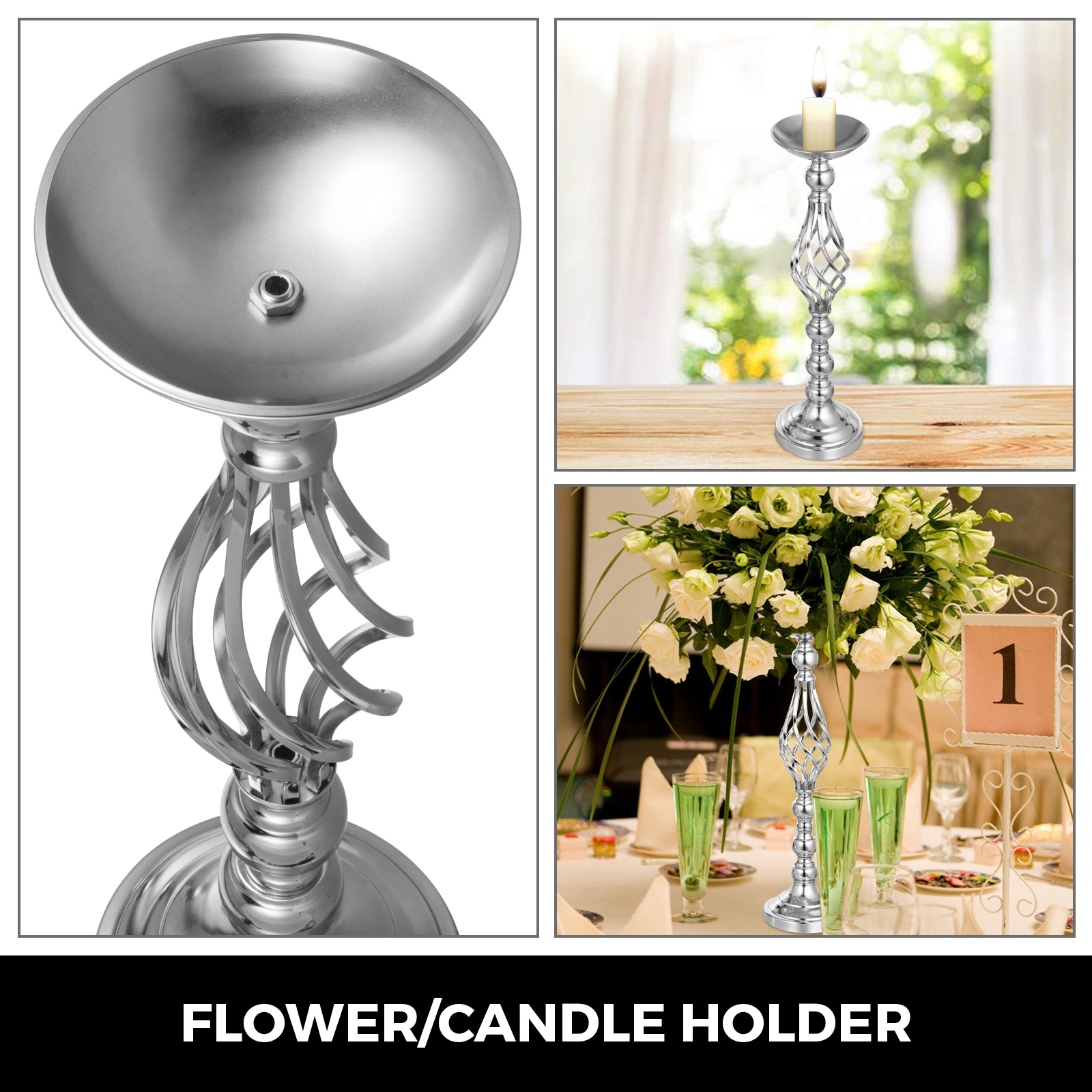 Flower-Rack-for-Wedding-Metal-Candle-Stand-4-11pcs-Centerpiece-Flower-Vase thumbnail 15