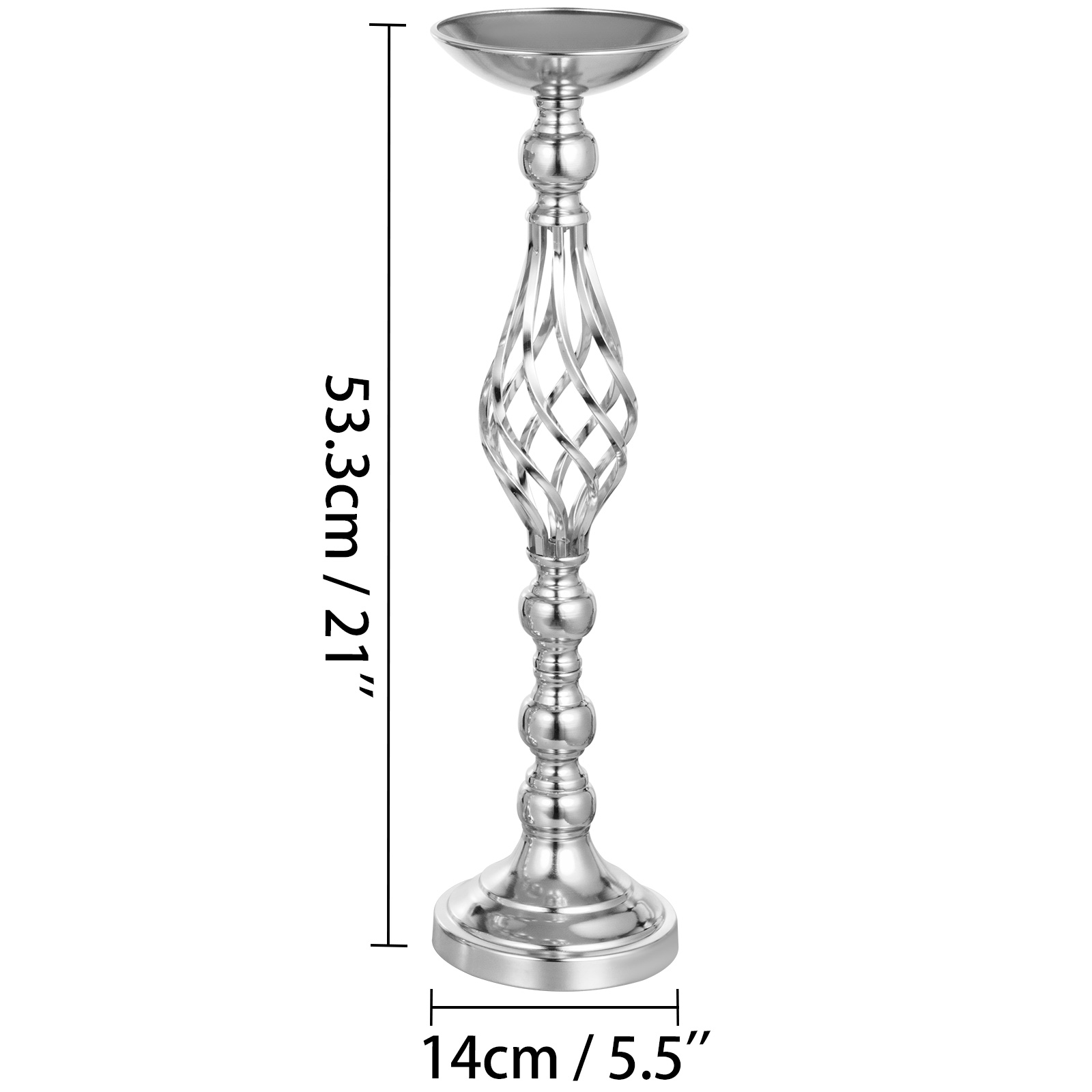 Flower-Rack-for-Wedding-Metal-Candle-Stand-4-11pcs-Centerpiece-Flower-Vase thumbnail 20