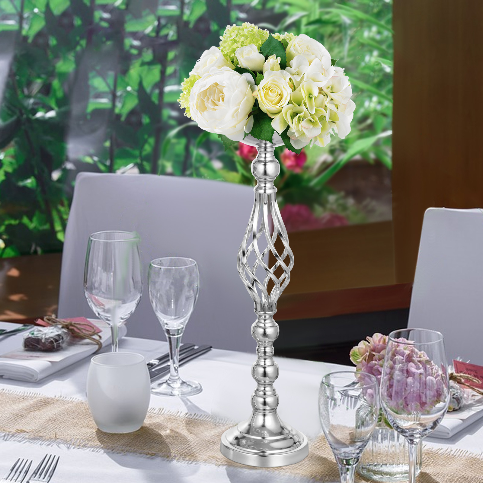 Flower-Rack-for-Wedding-Metal-Candle-Stand-4-11pcs-Centerpiece-Flower-Vase thumbnail 21