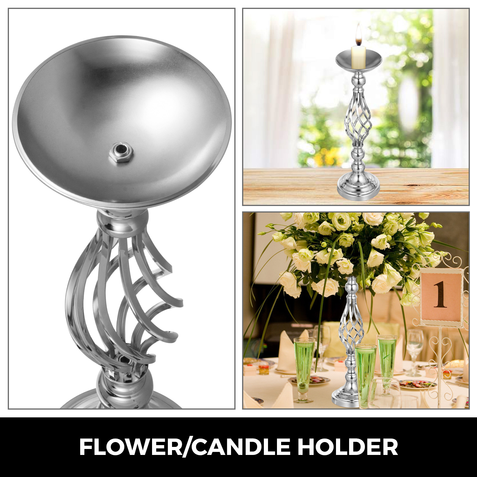 Flower-Rack-for-Wedding-Metal-Candle-Stand-4-11pcs-Centerpiece-Flower-Vase thumbnail 27