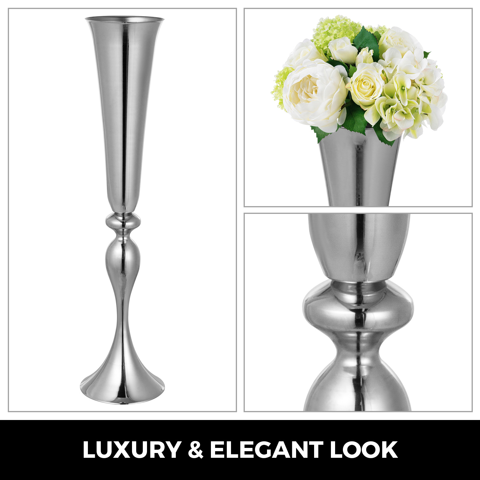 Trumpet-Vase-Flower-Vases-Centerpiece-29-5-034-22-034-for-Party-Celebration-Events thumbnail 99