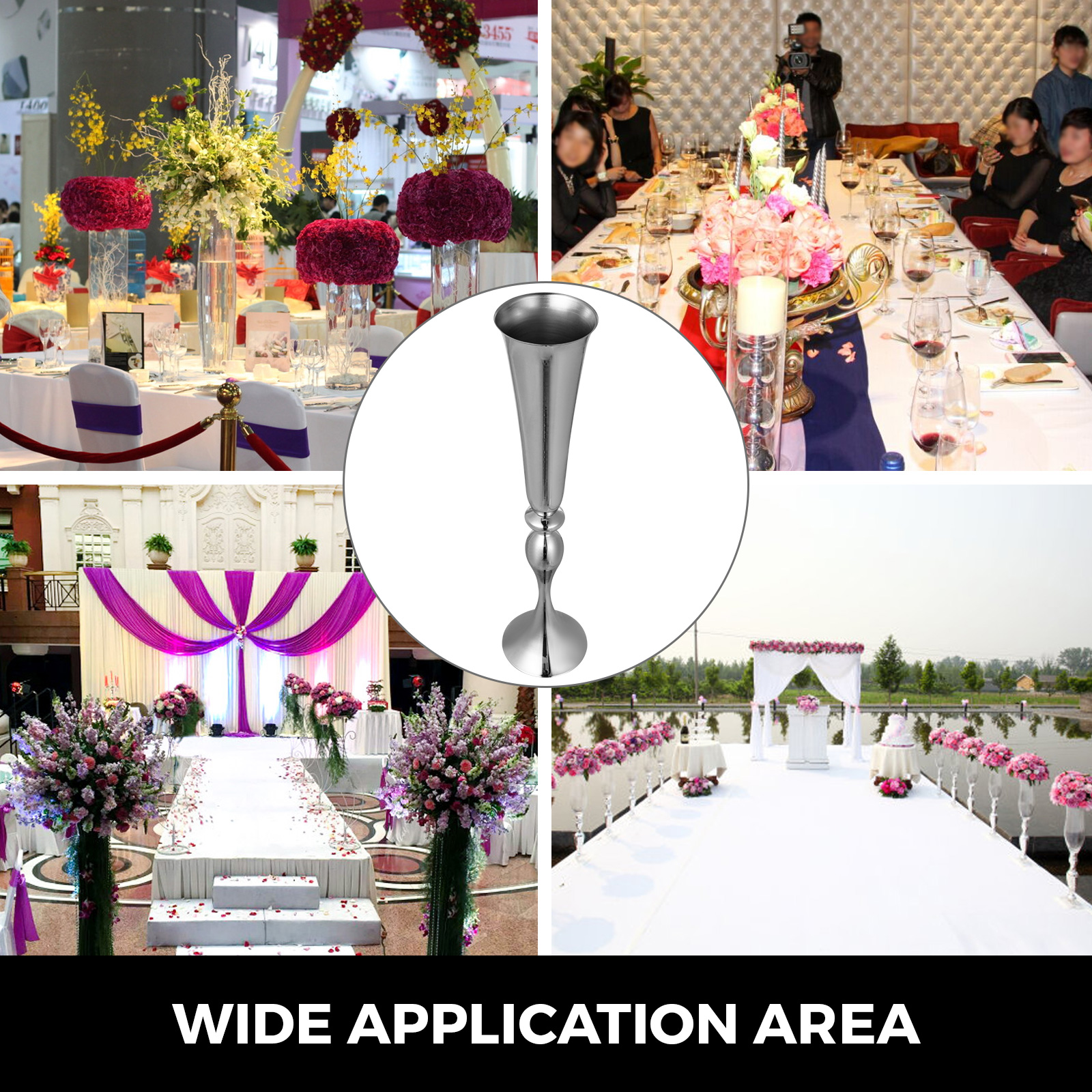 Trumpet-Vase-Flower-Vases-Centerpiece-29-5-034-22-034-for-Party-Celebration-Events thumbnail 103