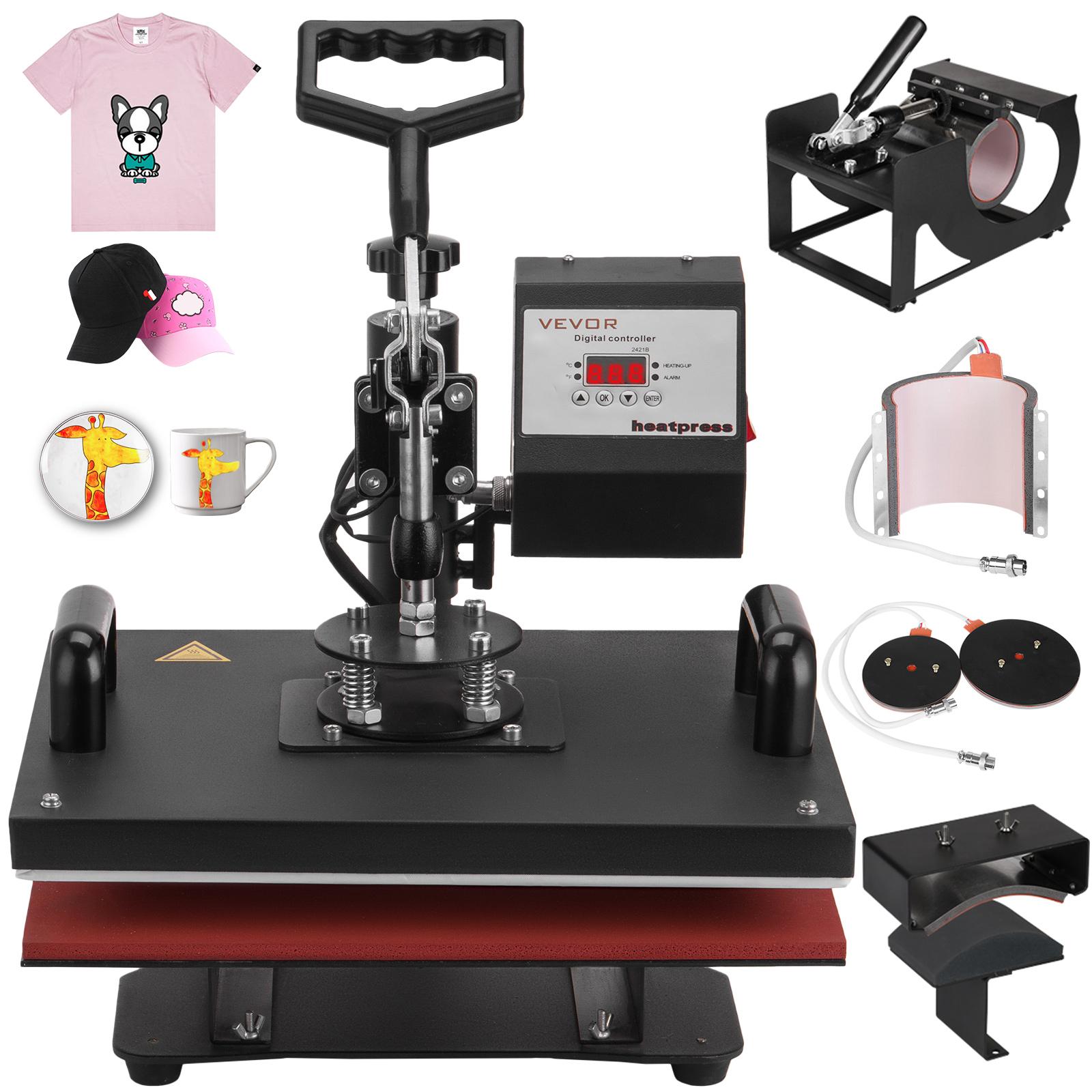 6in1 presse textile presse chaud la chaleur pressage haute pression assiette ebay. Black Bedroom Furniture Sets. Home Design Ideas