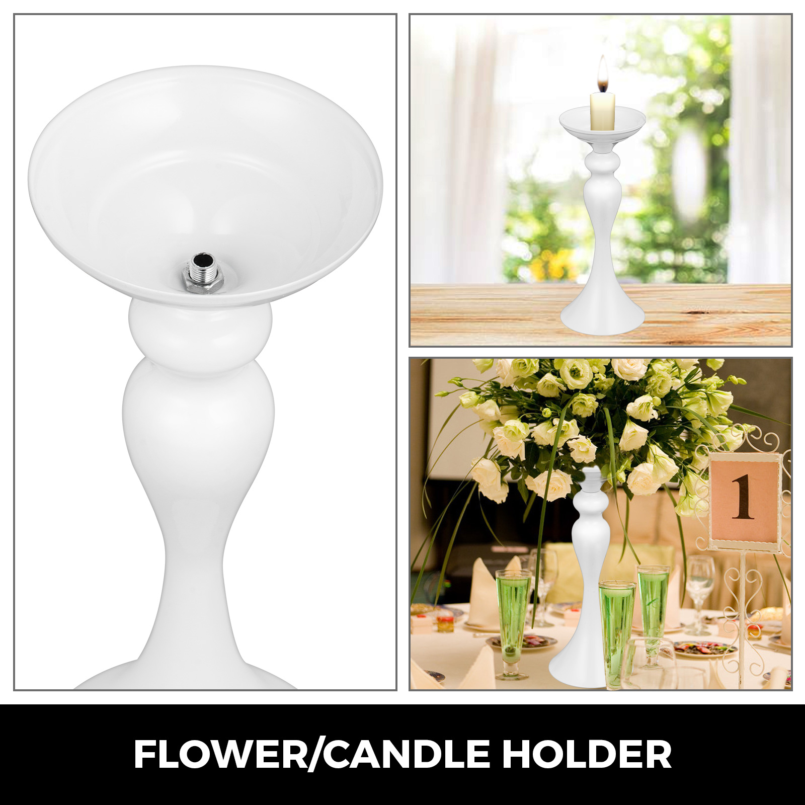 Flower-Rack-for-Wedding-Metal-Candle-Stand-4-11pcs-Centerpiece-Flower-Vase thumbnail 207