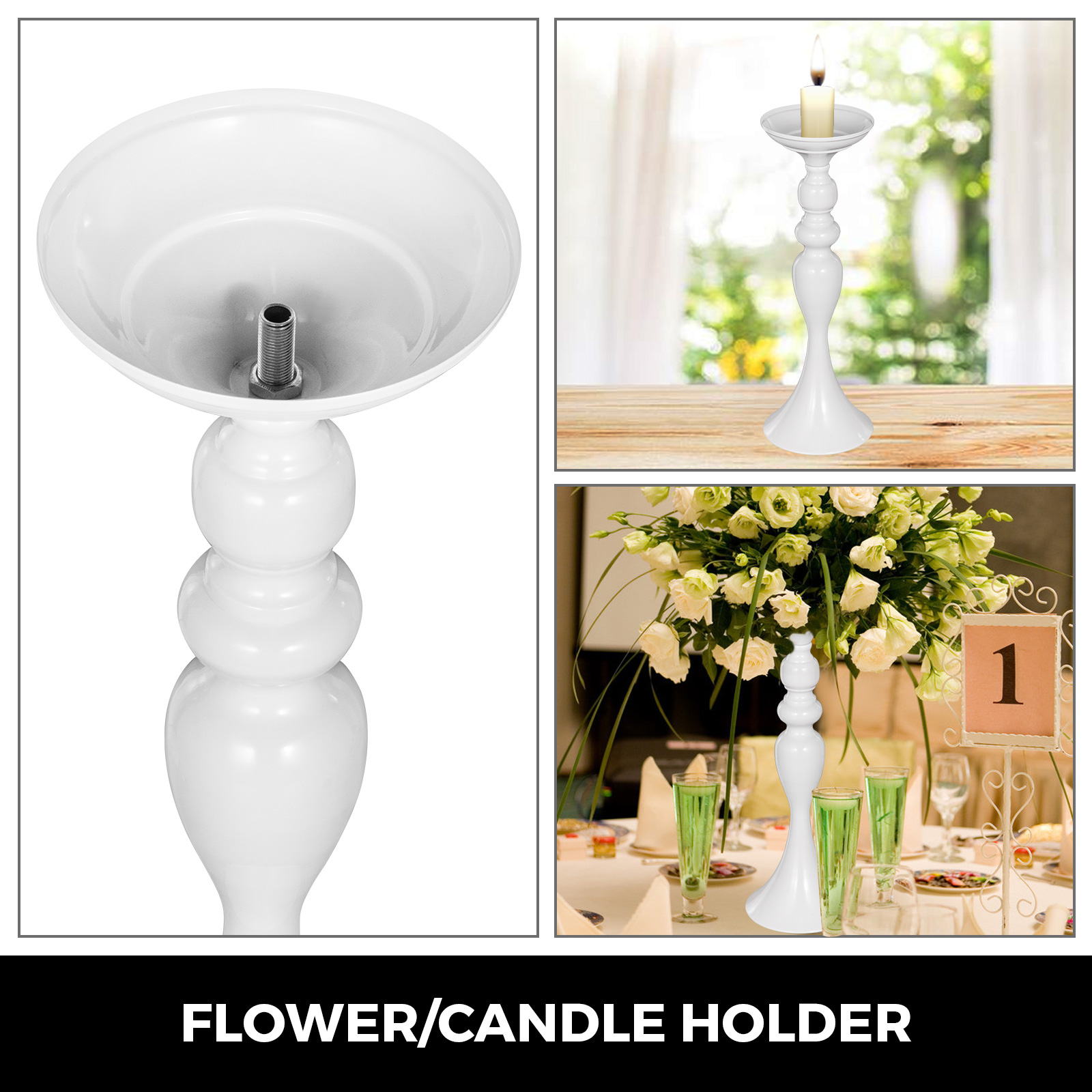 Flower-Rack-for-Wedding-Metal-Candle-Stand-4-11pcs-Centerpiece-Flower-Vase thumbnail 171