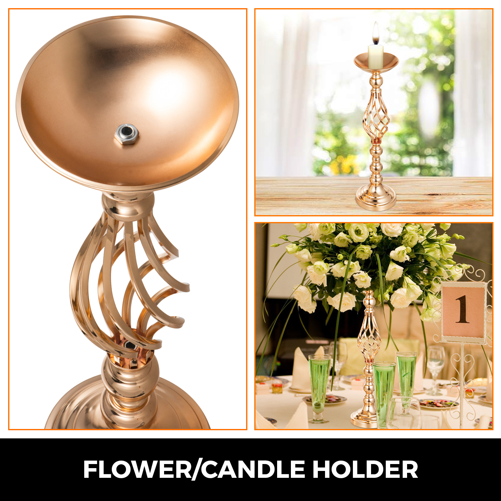 Flower-Rack-for-Wedding-Metal-Candle-Stand-4-11pcs-Centerpiece-Flower-Vase thumbnail 99