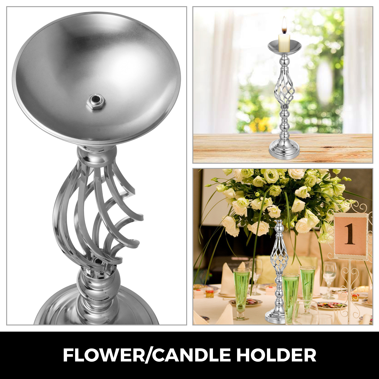 Flower-Rack-for-Wedding-Metal-Candle-Stand-4-11pcs-Centerpiece-Flower-Vase thumbnail 87