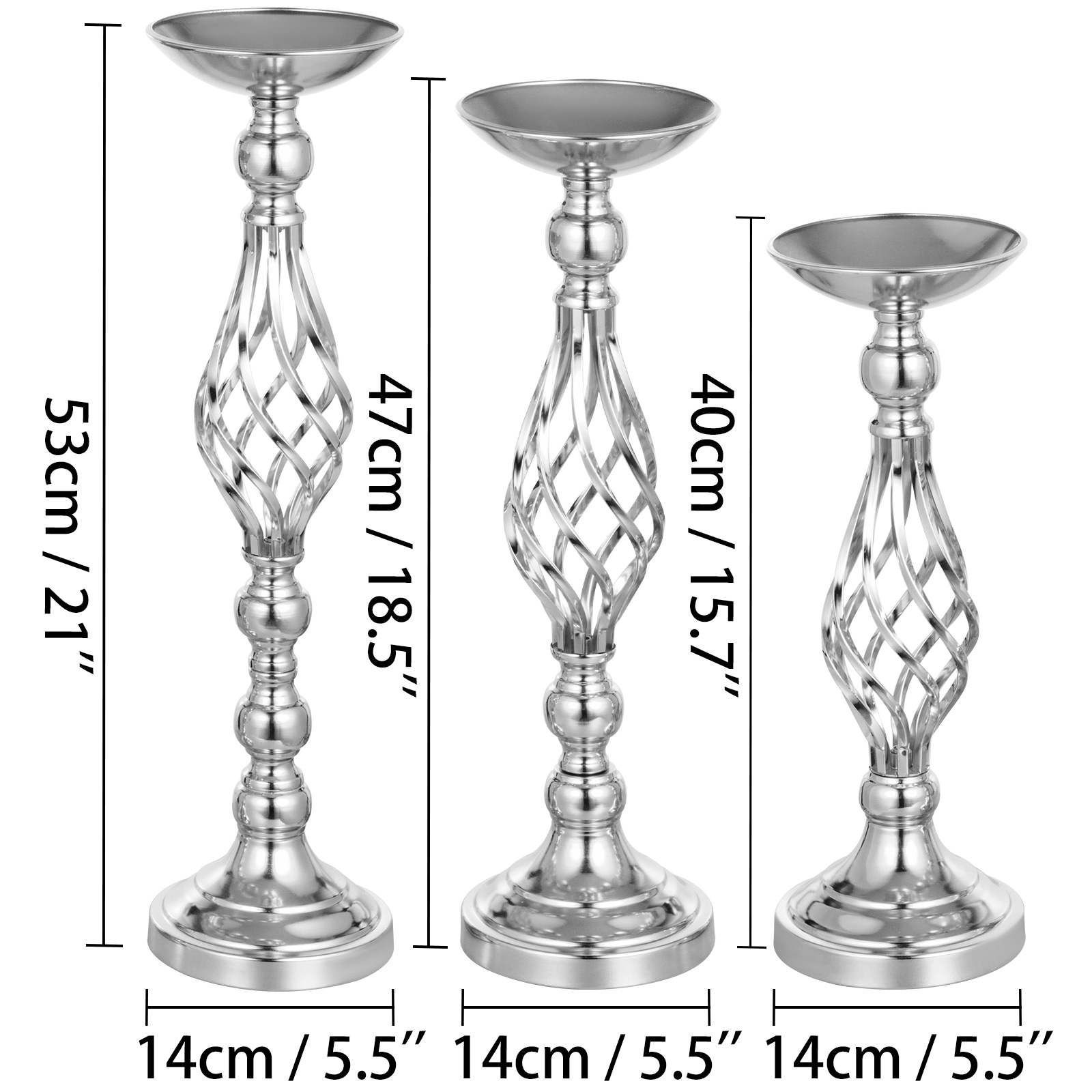 Flower-Rack-for-Wedding-Metal-Candle-Stand-4-11pcs-Centerpiece-Flower-Vase thumbnail 92