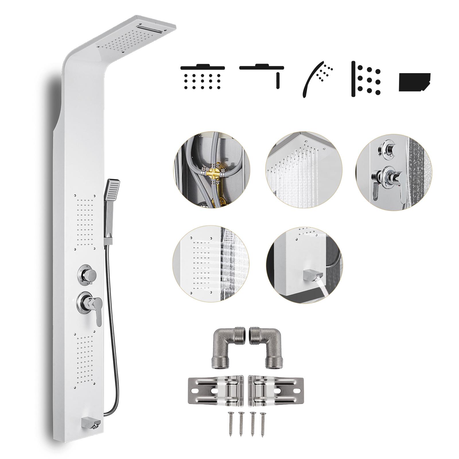 Pannello-doccia-idromassaggio-colonna-in-acciaio-inossidabile-con-miscelatore miniatura 24