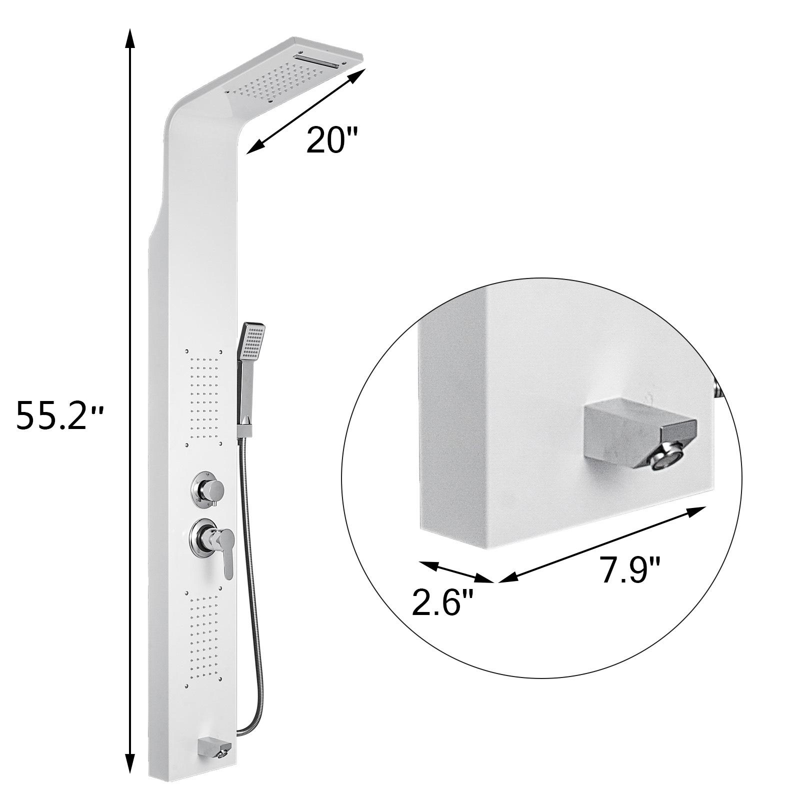Pannello-doccia-idromassaggio-colonna-in-acciaio-inossidabile-con-miscelatore miniatura 14