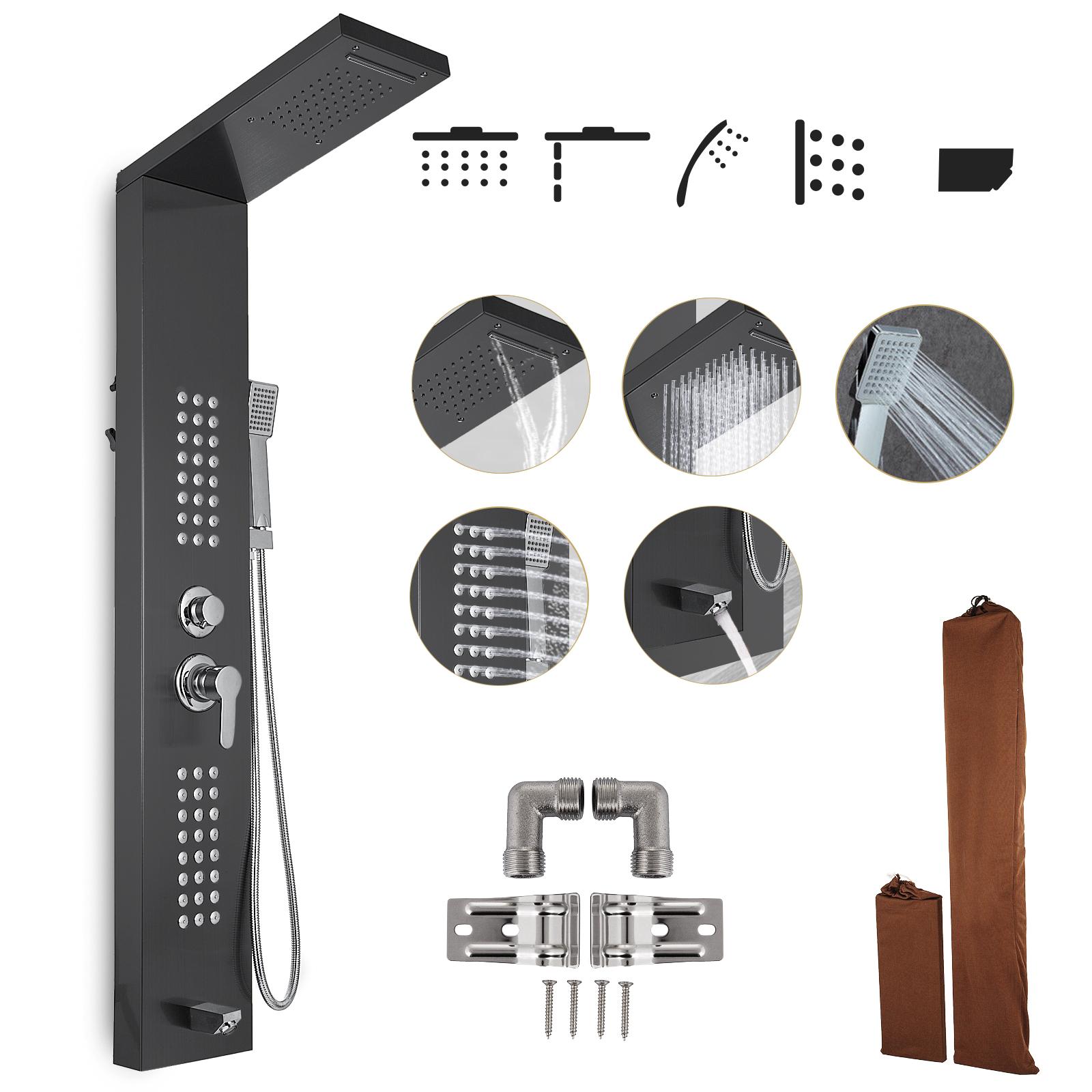 Pannello-doccia-idromassaggio-colonna-in-acciaio-inossidabile-con-miscelatore miniatura 108