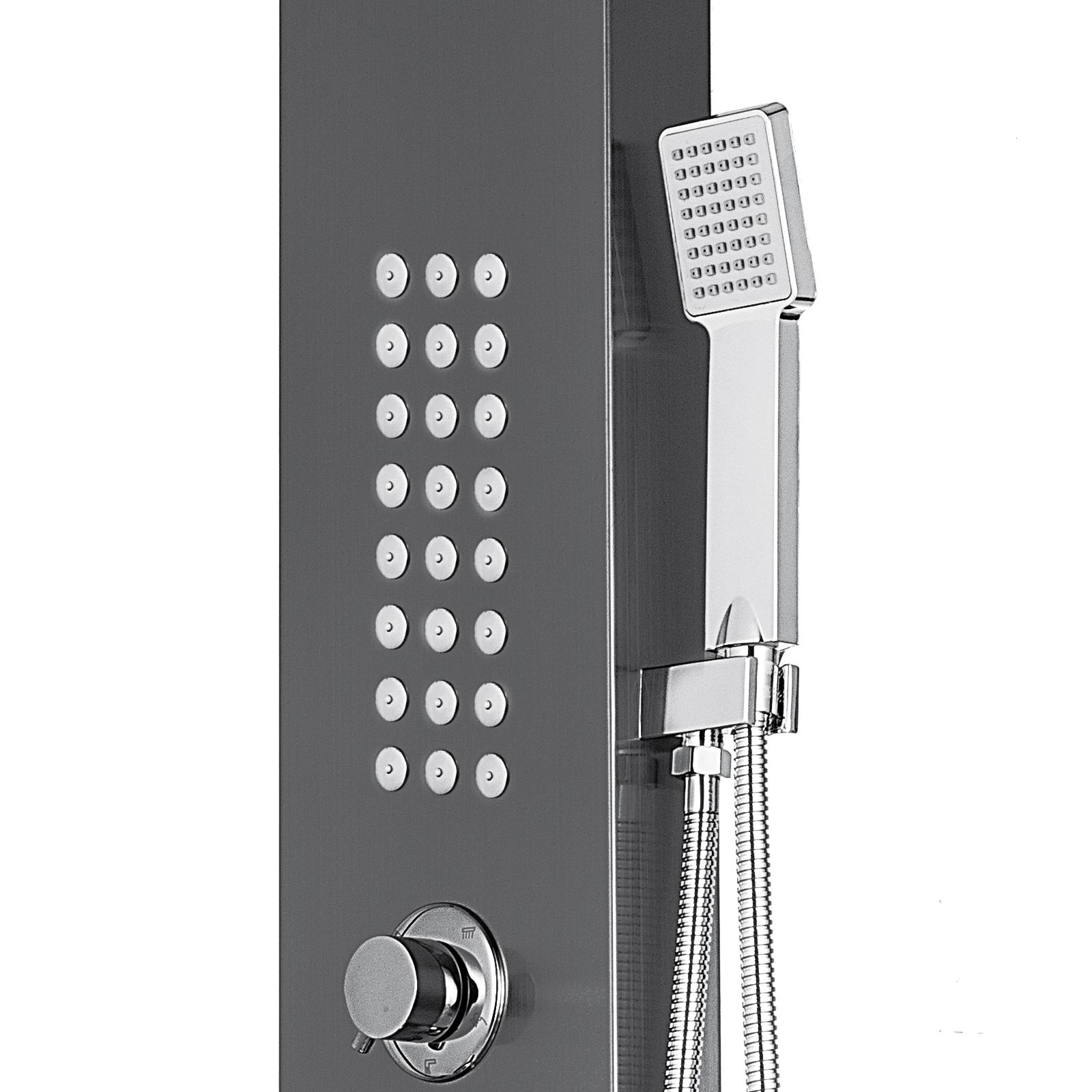 Pannello-doccia-idromassaggio-colonna-in-acciaio-inossidabile-con-miscelatore miniatura 105