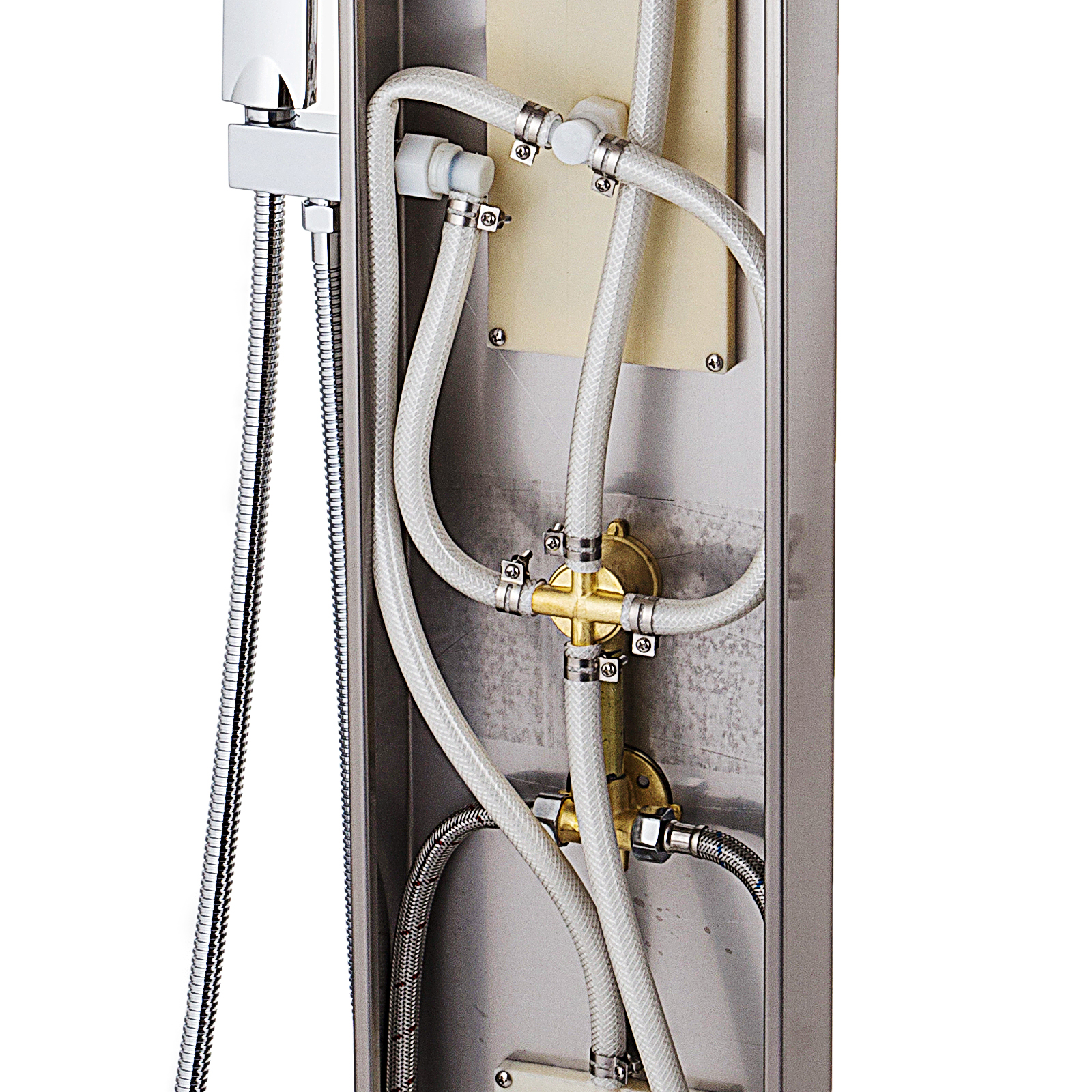 Pannello-doccia-idromassaggio-colonna-in-acciaio-inossidabile-con-miscelatore miniatura 59