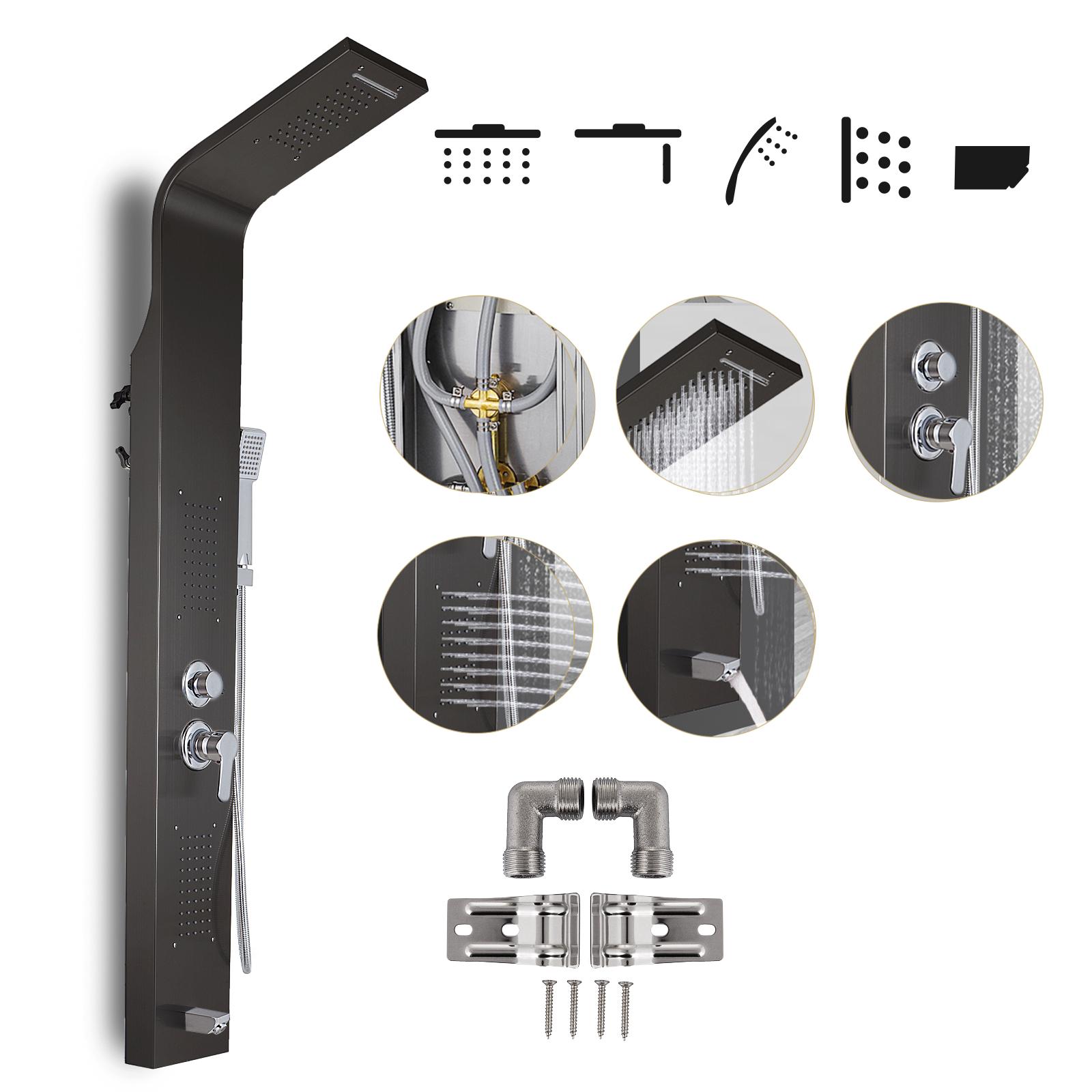 Pannello-doccia-idromassaggio-colonna-in-acciaio-inossidabile-con-miscelatore miniatura 60