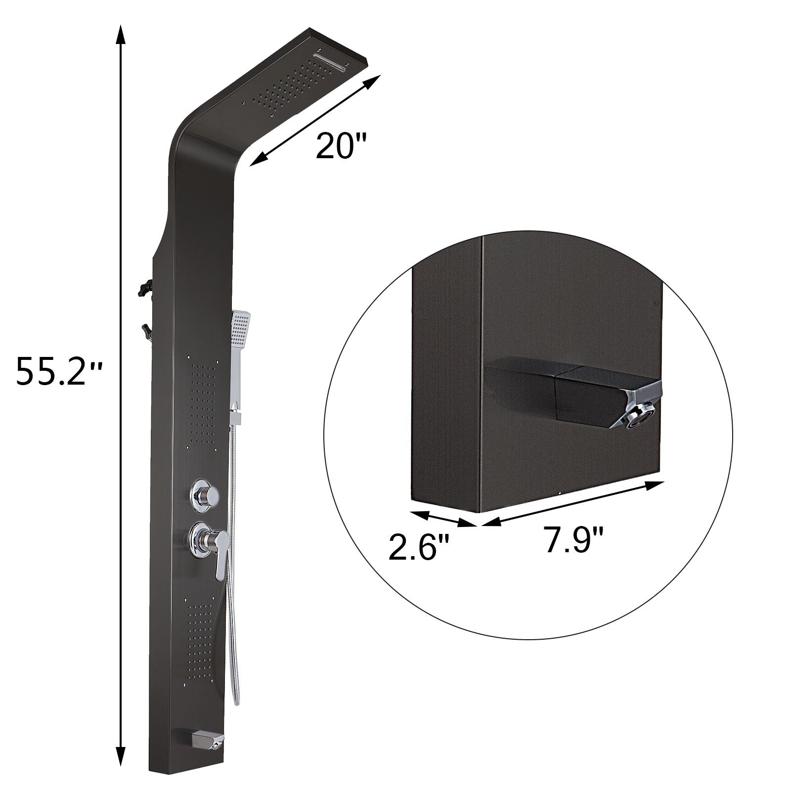 Pannello-doccia-idromassaggio-colonna-in-acciaio-inossidabile-con-miscelatore miniatura 50