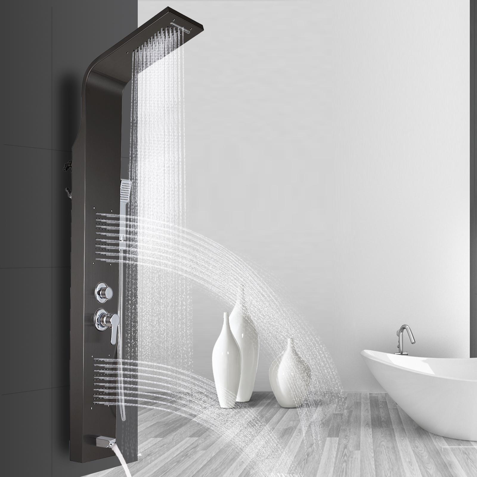Pannello-doccia-idromassaggio-colonna-in-acciaio-inossidabile-con-miscelatore miniatura 54