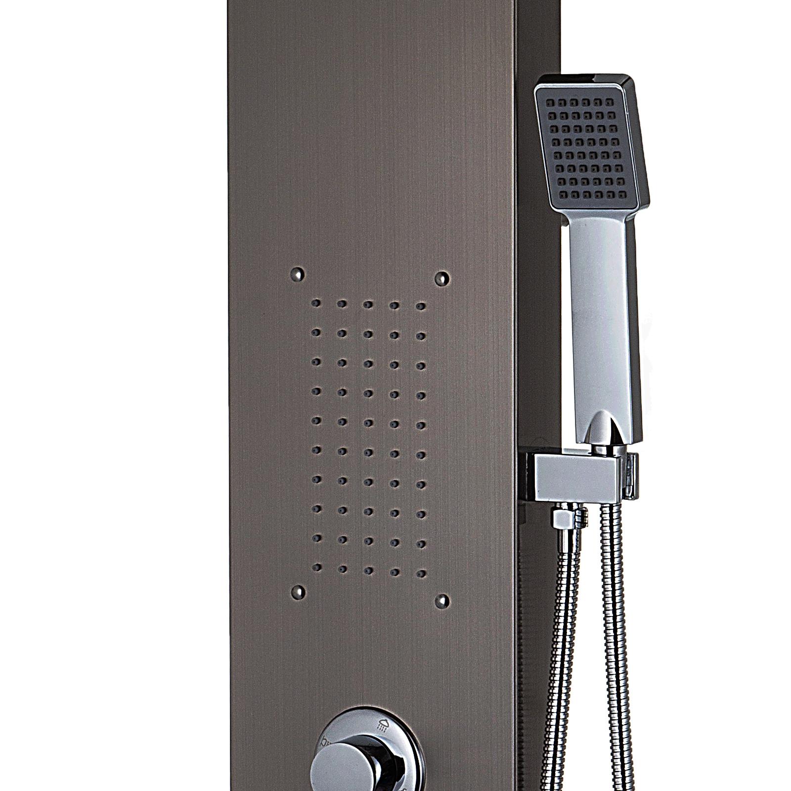 Pannello-doccia-idromassaggio-colonna-in-acciaio-inossidabile-con-miscelatore miniatura 56
