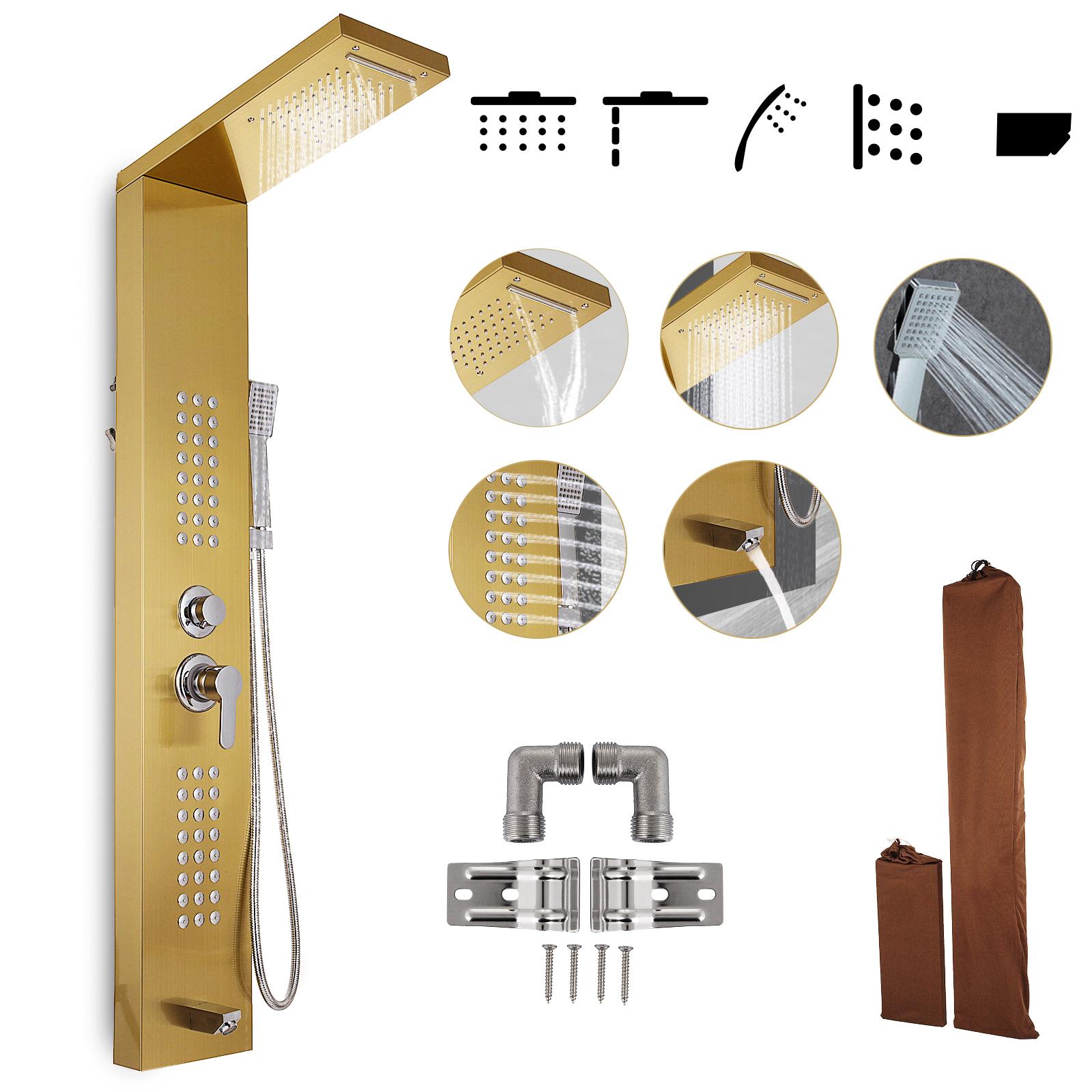 Pannello-doccia-idromassaggio-colonna-in-acciaio-inossidabile-con-miscelatore miniatura 85
